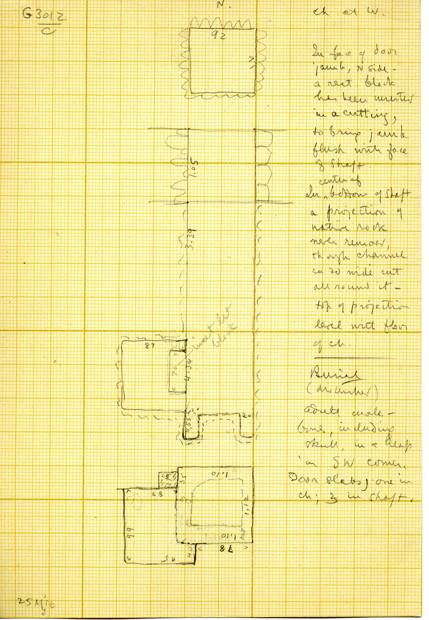 Maps and plans: G 3012, Shaft C