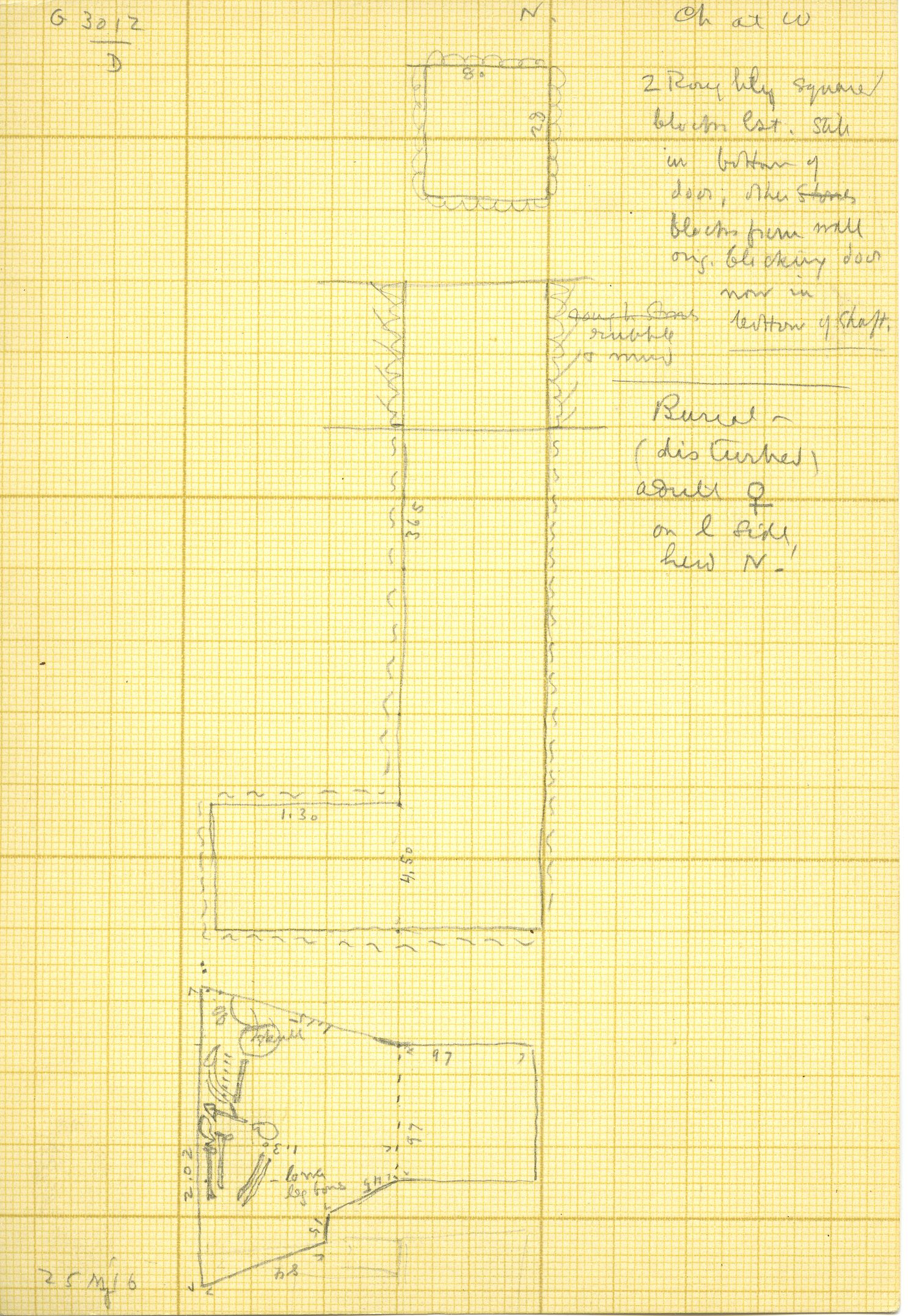 Maps and plans: G 3012, Shaft D