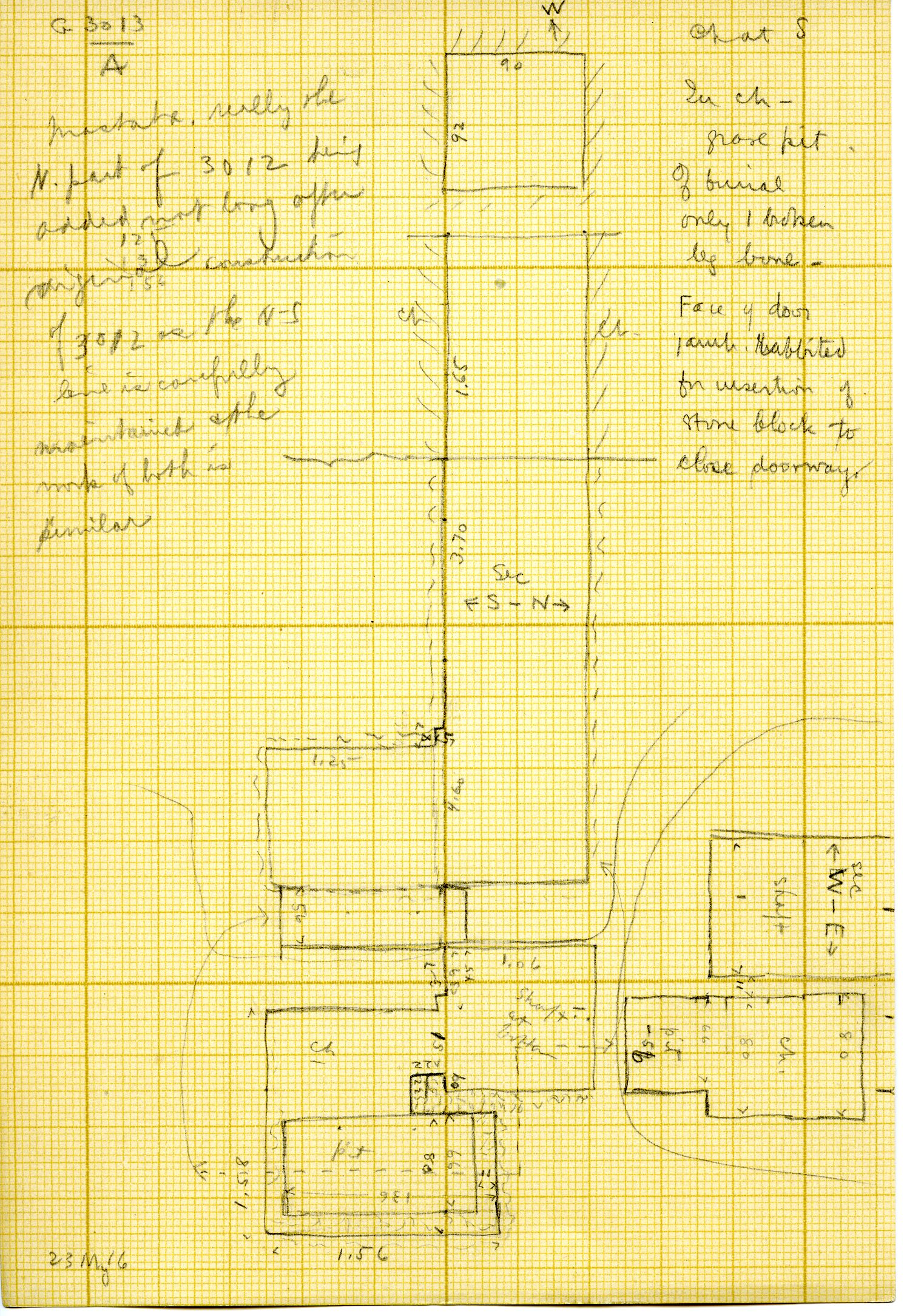 Maps and plans: G 3013, Shaft A