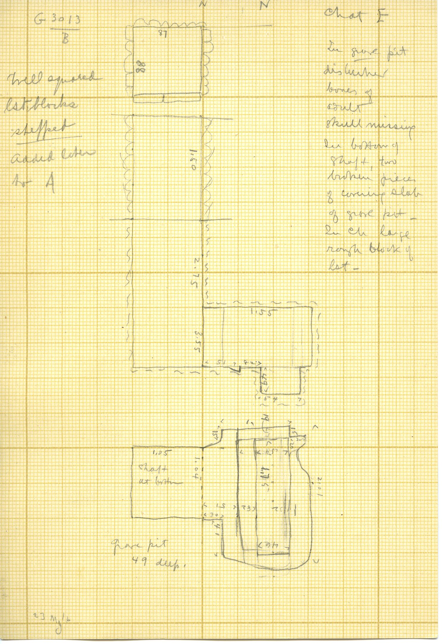 Maps and plans: G 3013, Shaft B