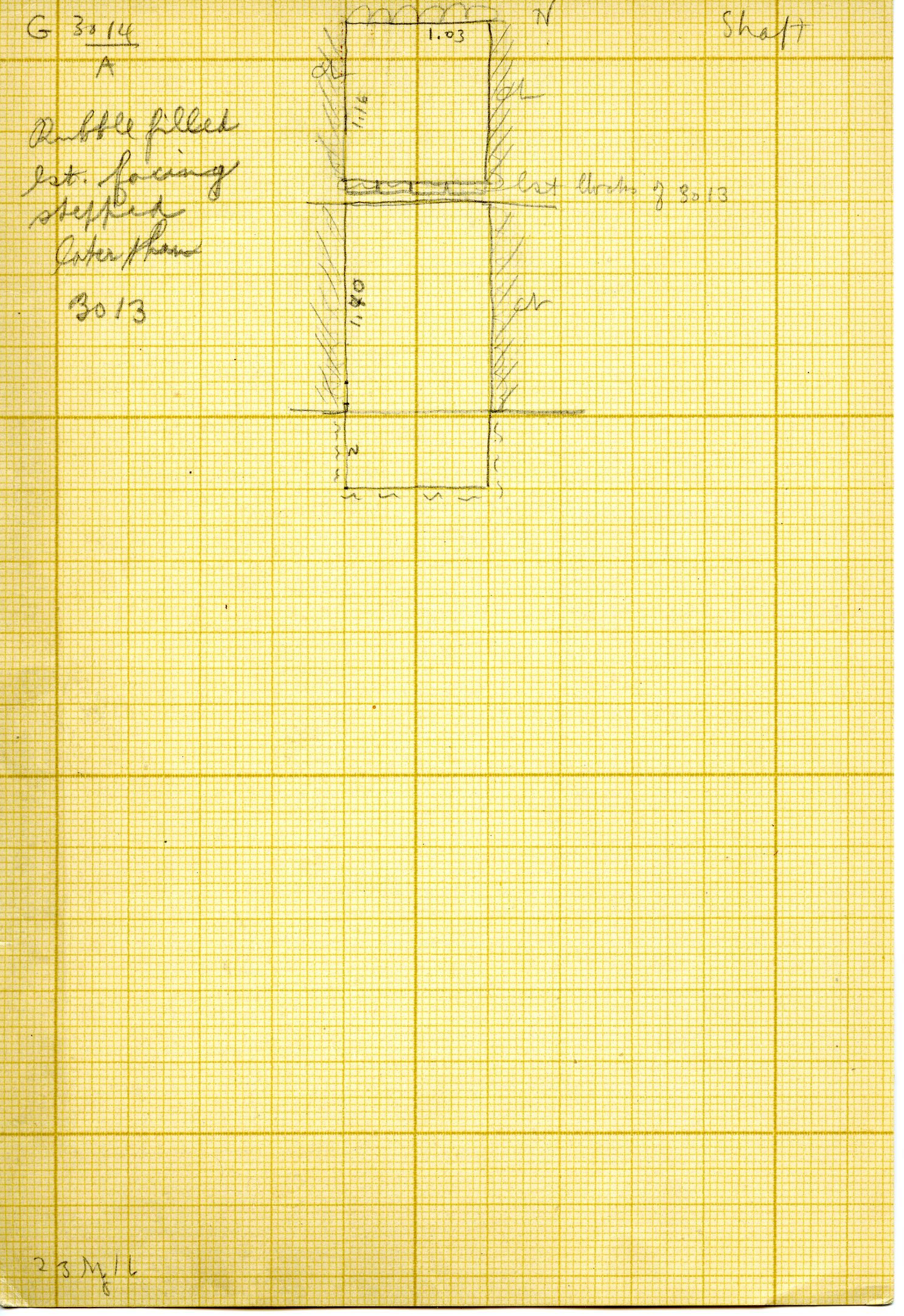 Maps and plans: G 3014, Shaft A