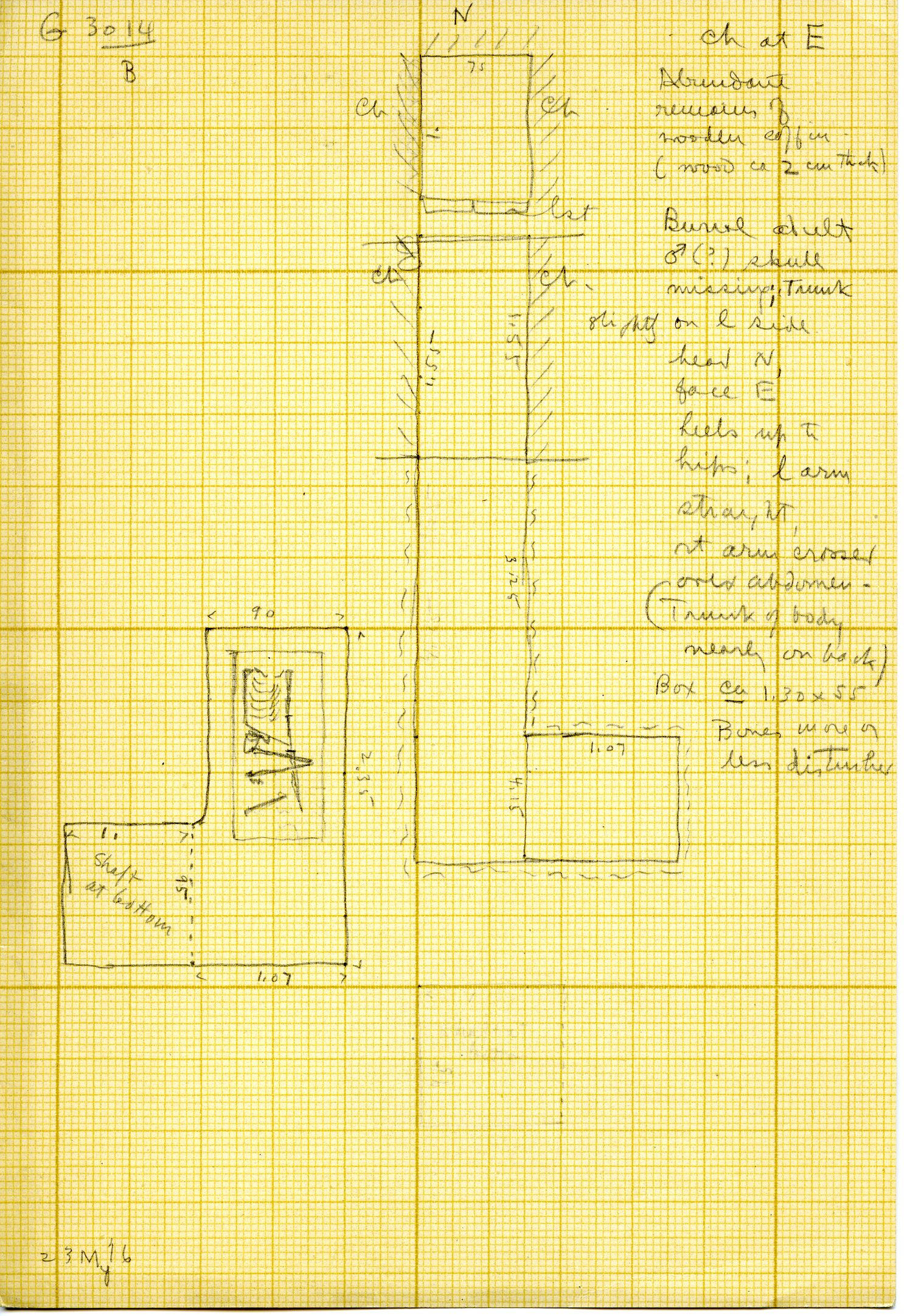 Maps and plans: G 3014, Shaft B