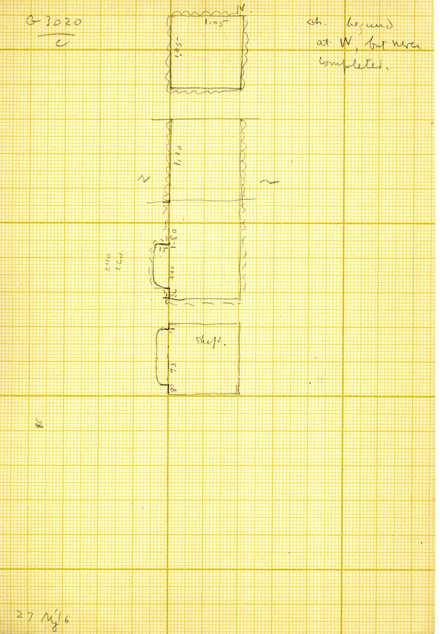 Maps and plans: G 3020, Shaft C