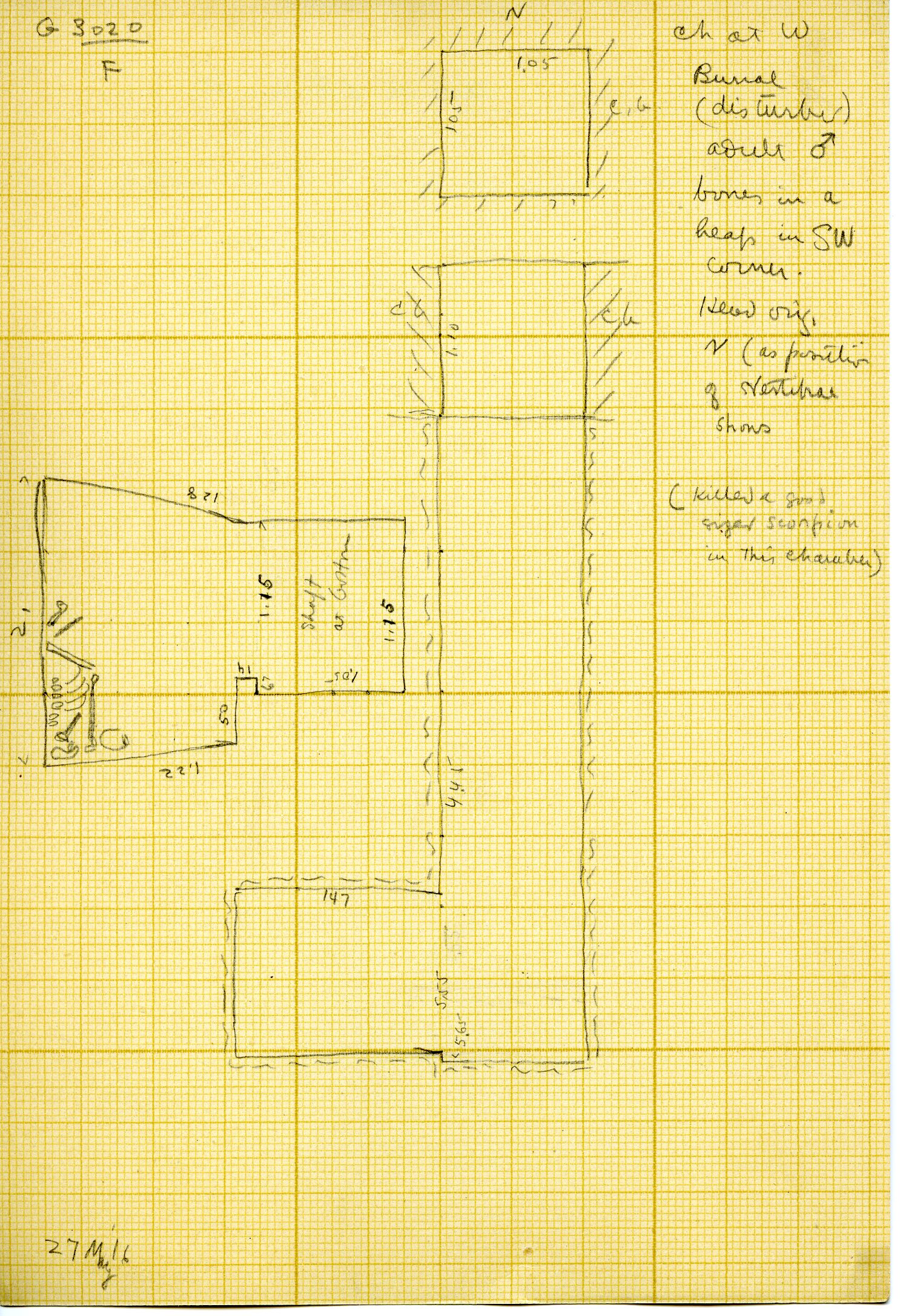 Maps and plans: G 3020, Shaft F