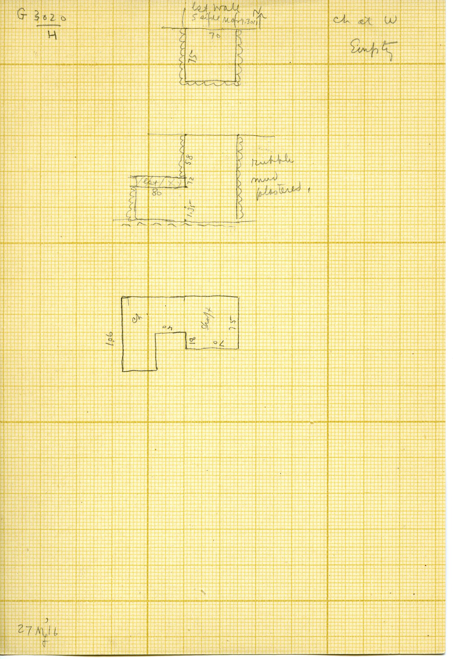 Maps and plans: G 3020, Shaft H