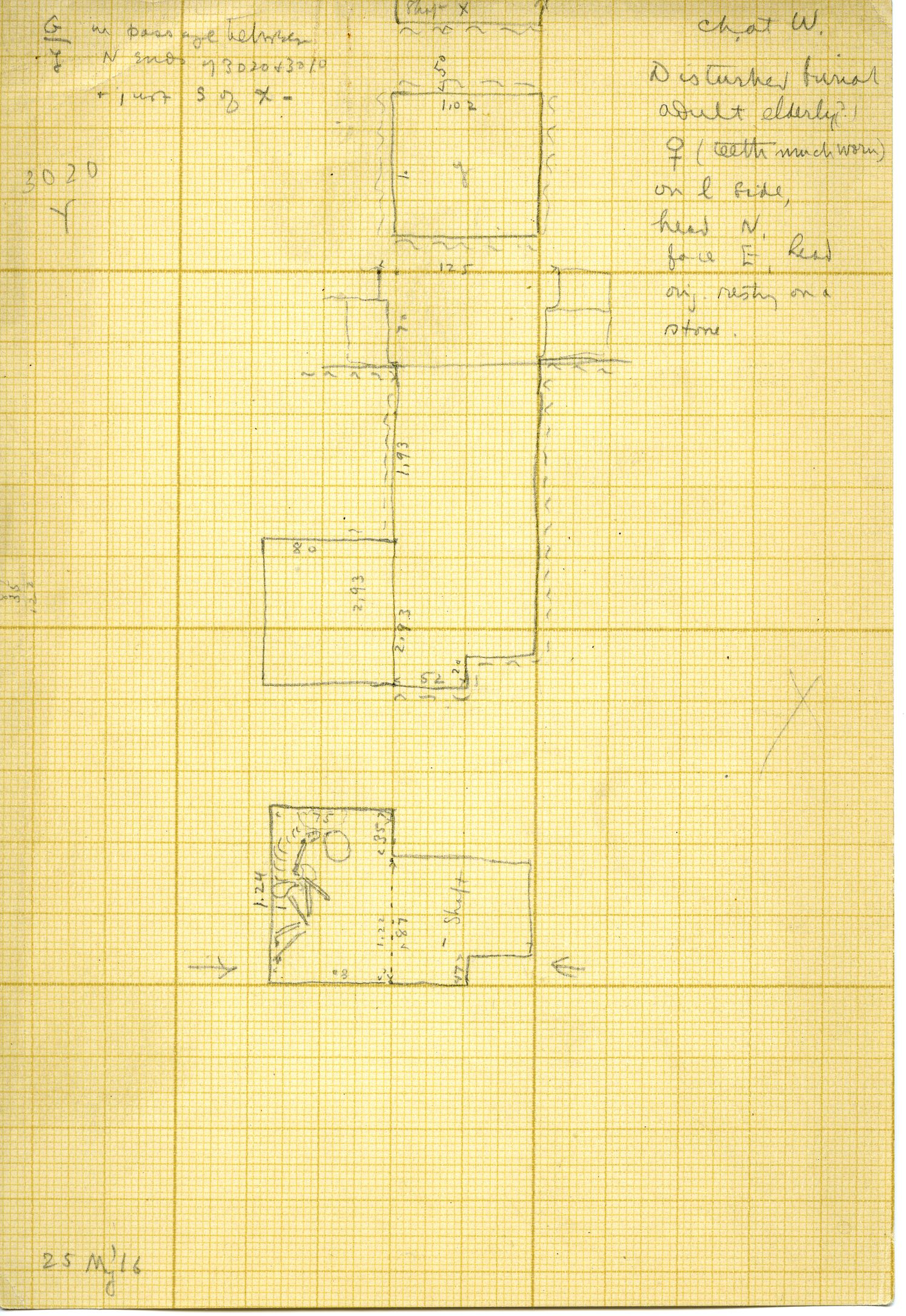 Maps and plans: G 3020, Shaft Y