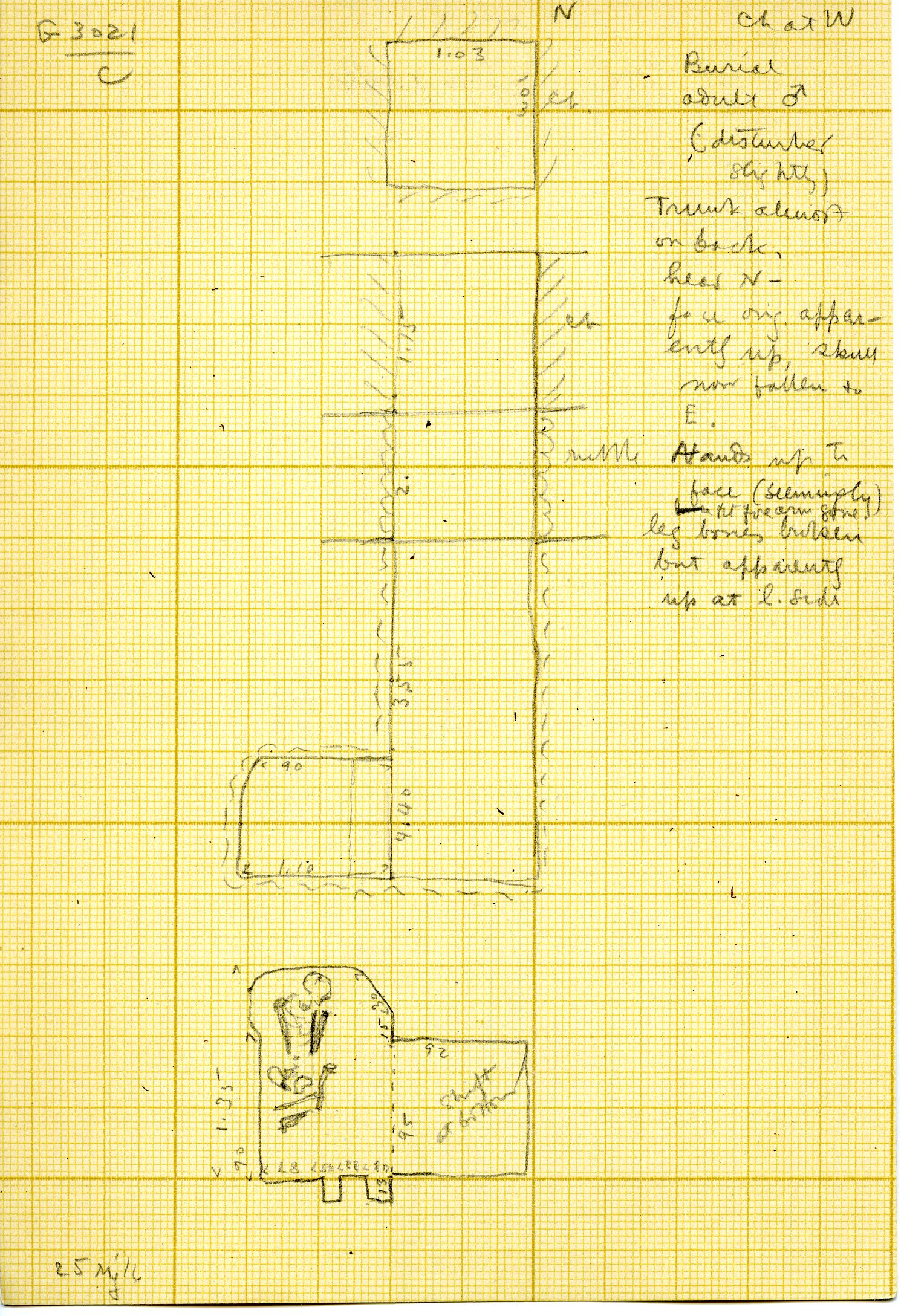 Maps and plans: G 3021, Shaft C