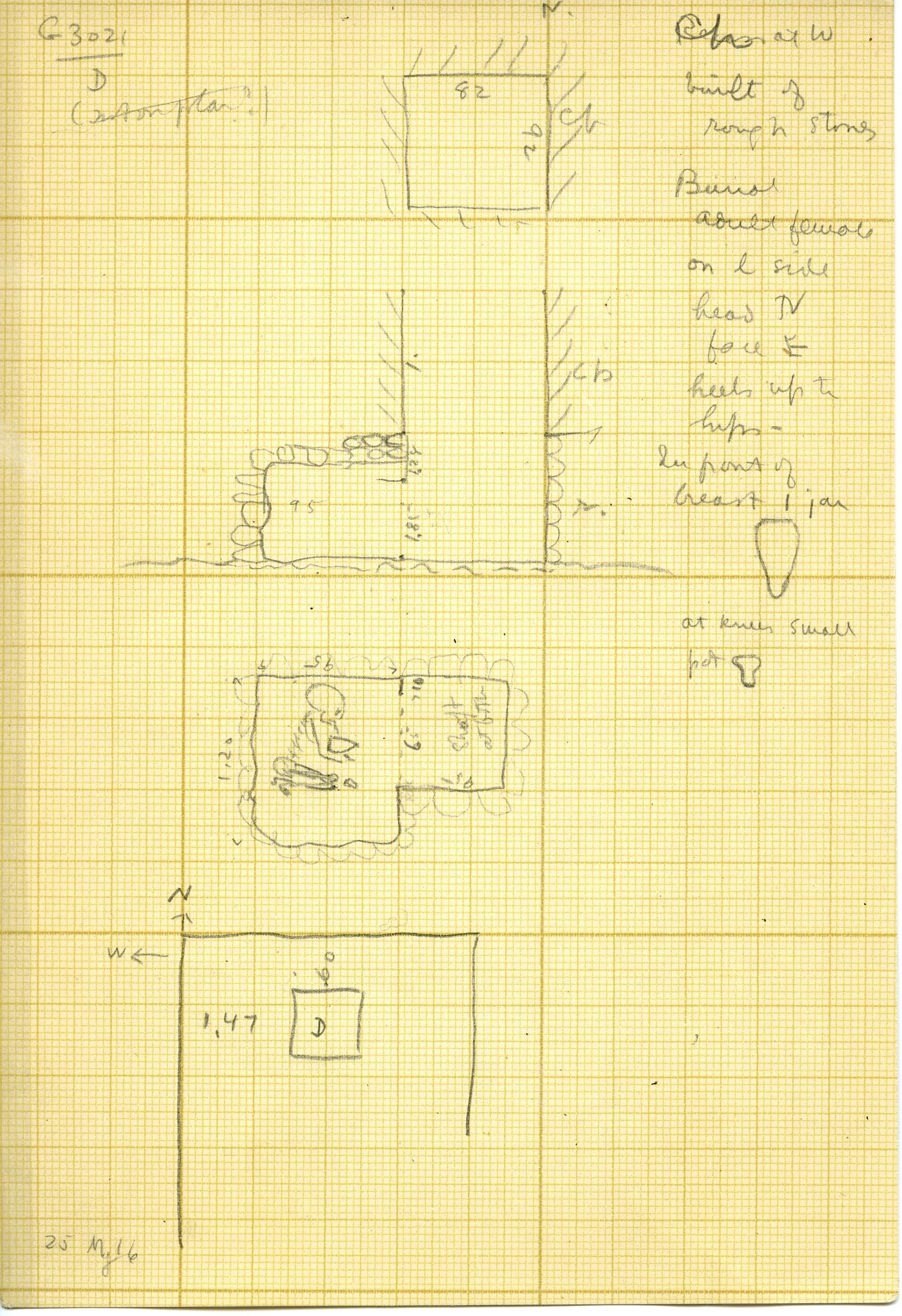 Maps and plans: G 3021, Shaft D