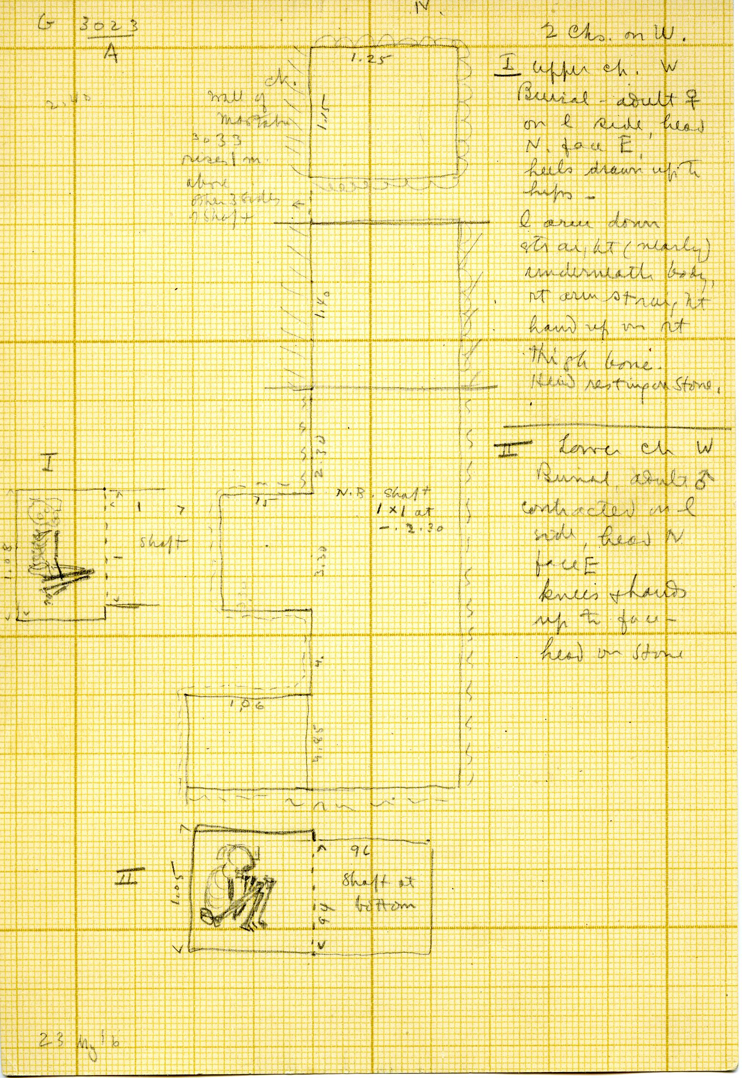Maps and plans: G 3023, Shaft A