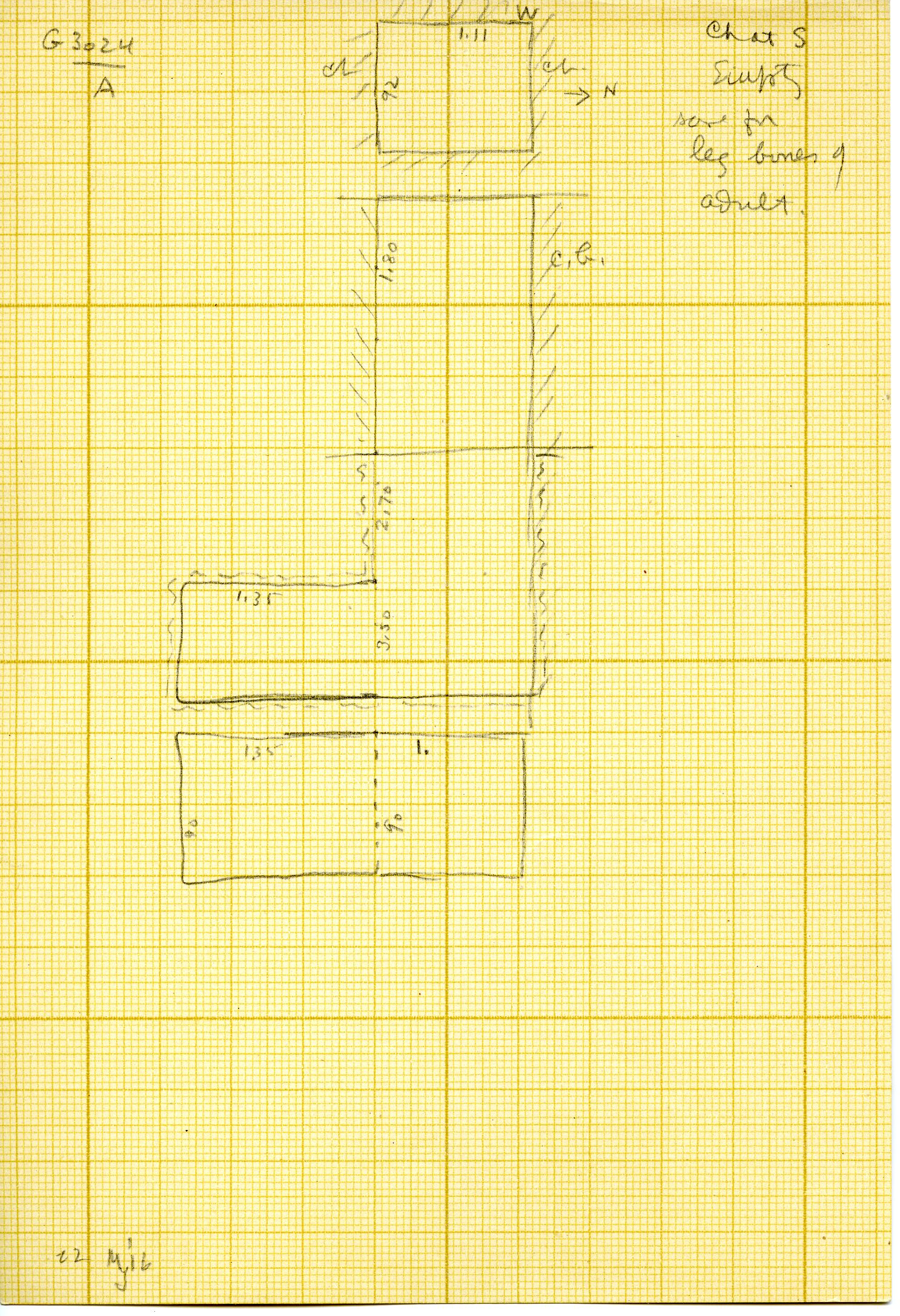 Maps and plans: G 3024, Shaft A