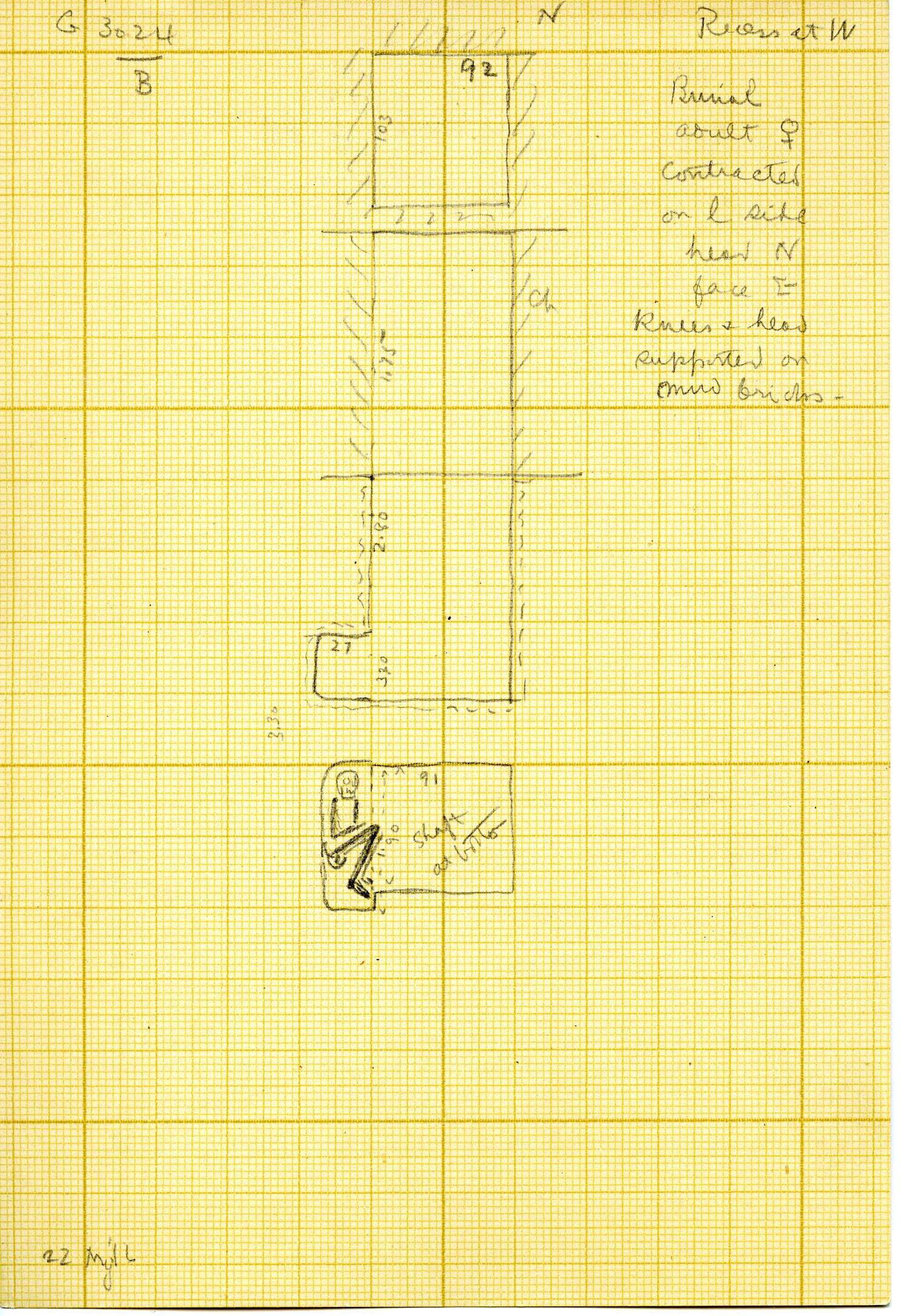 Maps and plans: G 3024, Shaft B