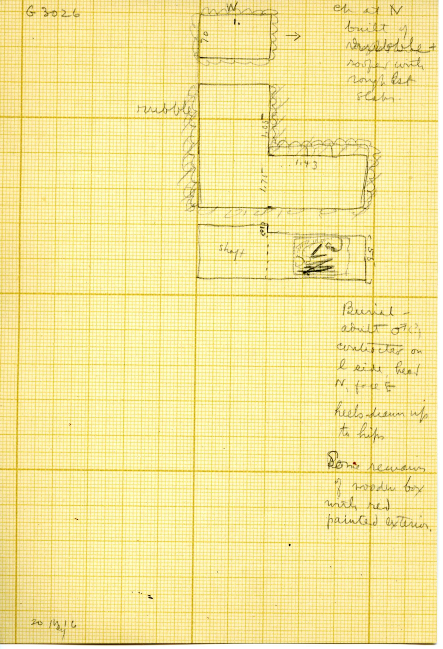 Maps and plans: G 3026, Shaft A