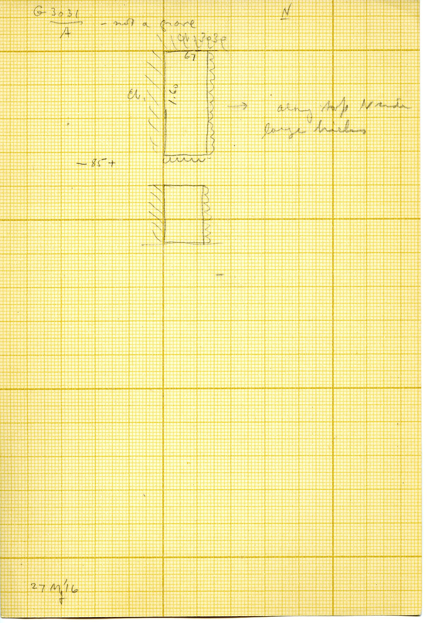 Maps and plans: G 3031, Shaft A