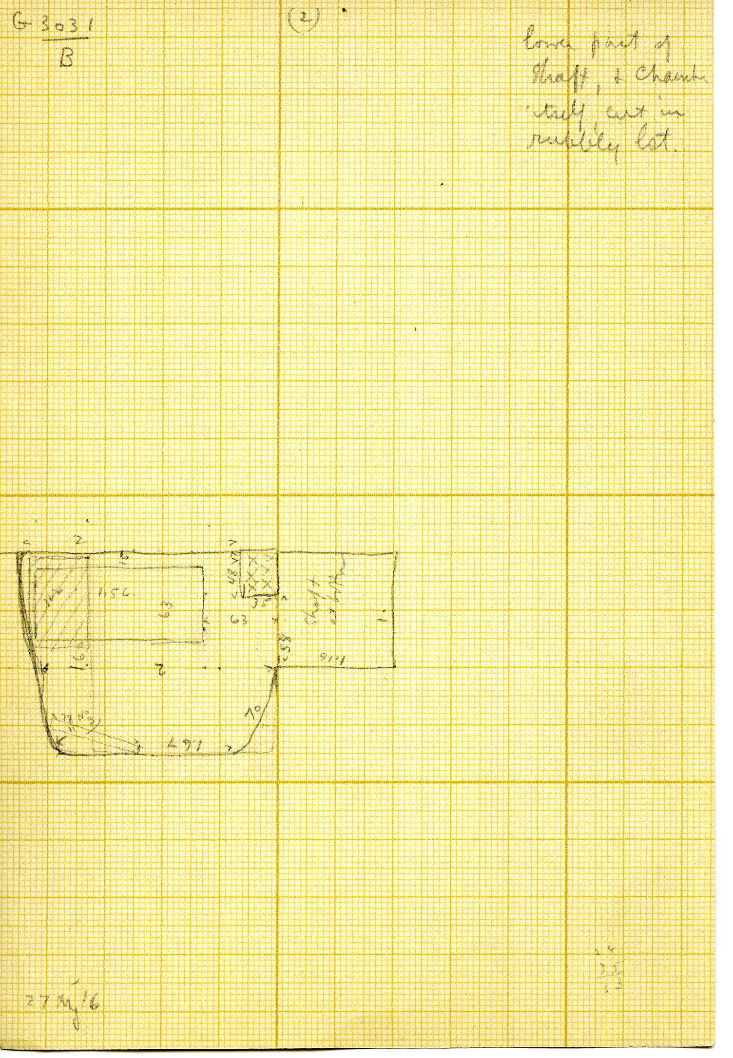 Maps and plans: G 3031, Shaft B