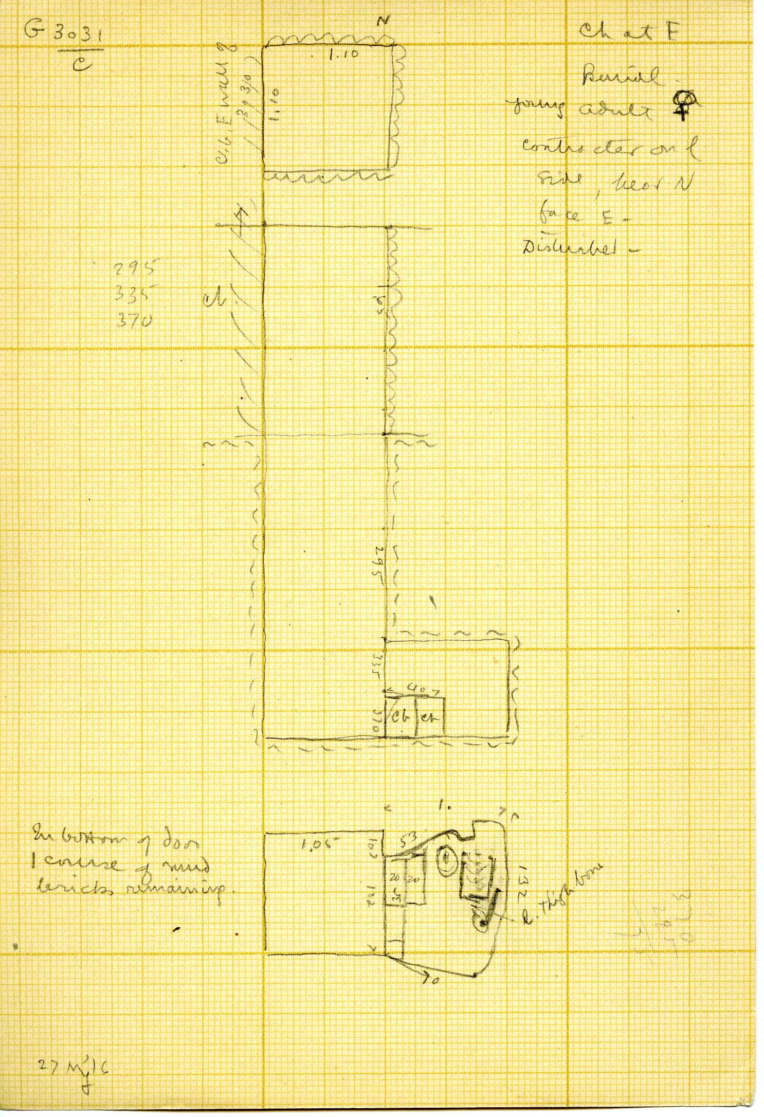 Maps and plans: G 3031, Shaft C