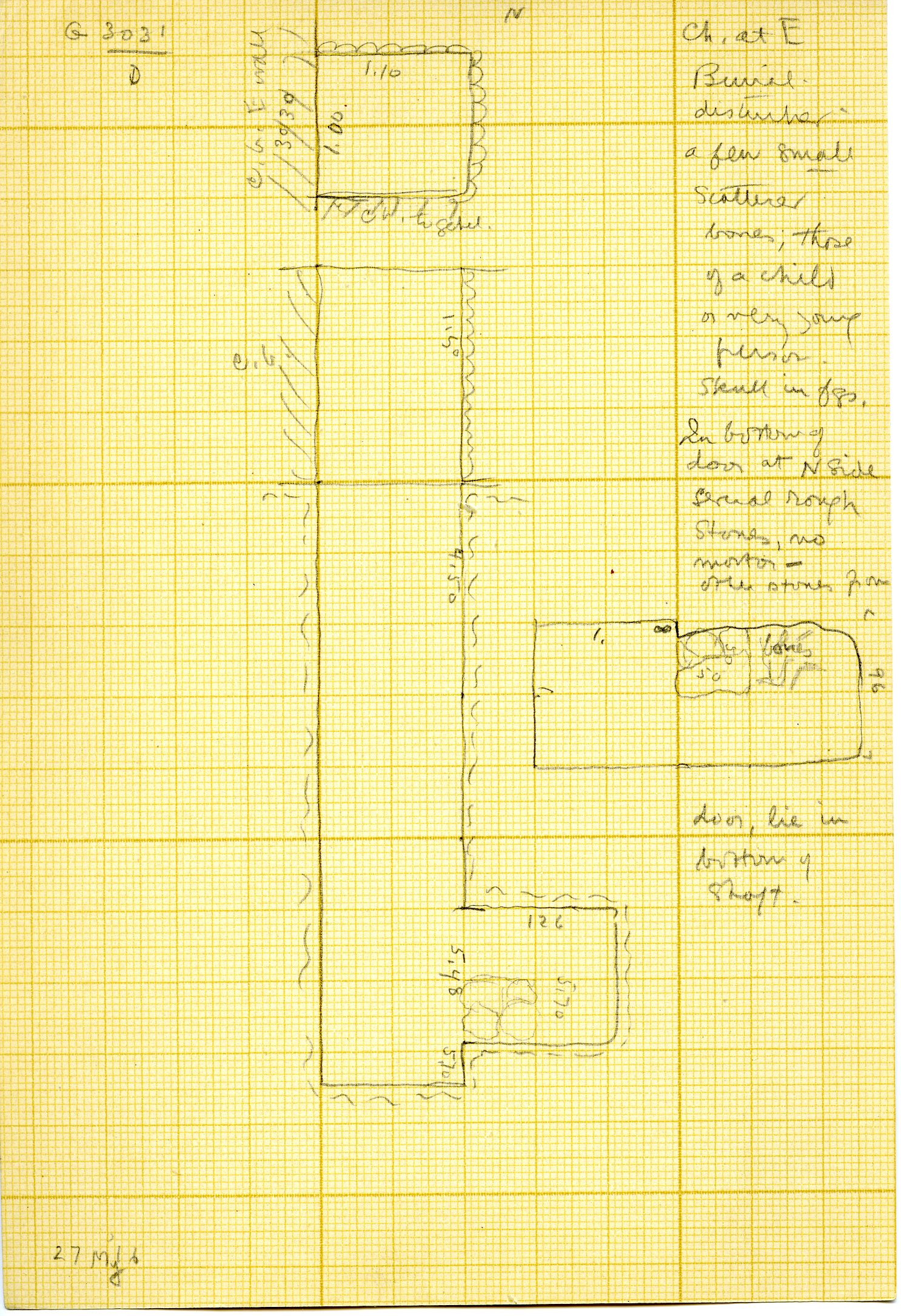 Maps and plans: G 3031, Shaft D