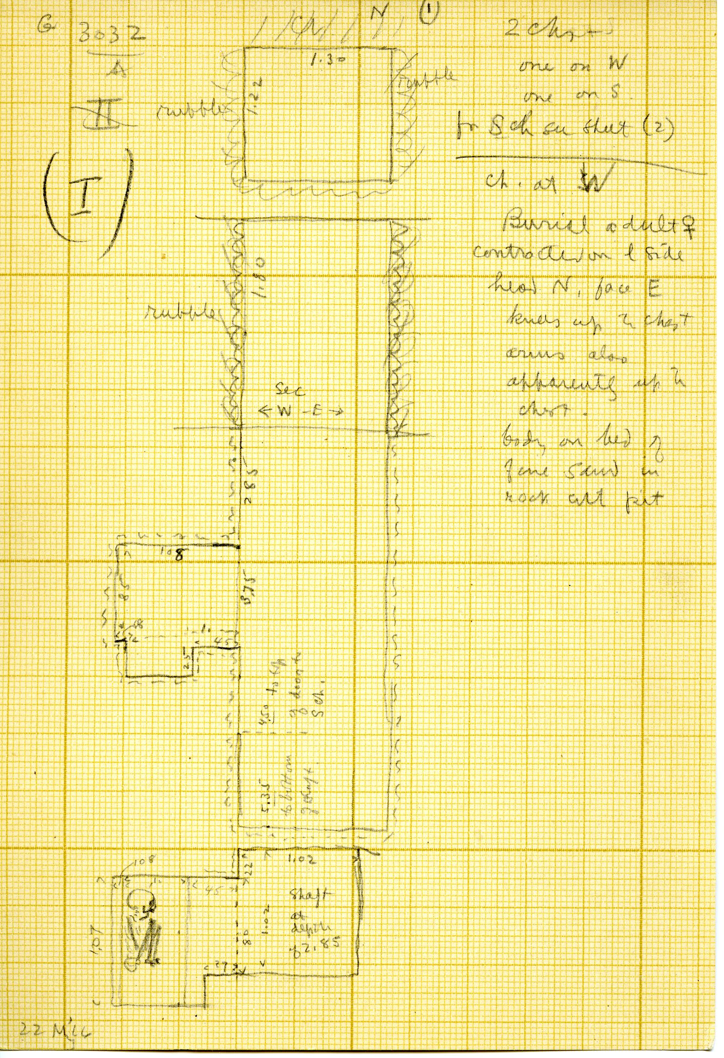 Maps and plans: G 3032, Shaft A