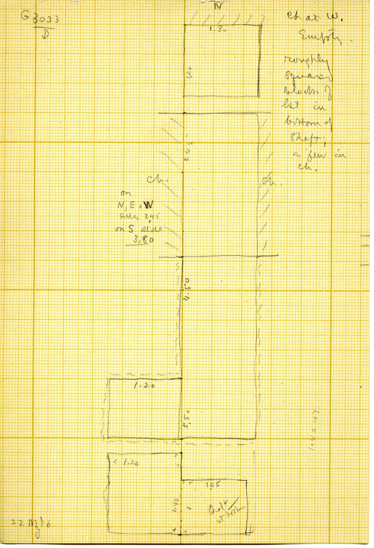 Maps and plans: G 3033, Shaft D