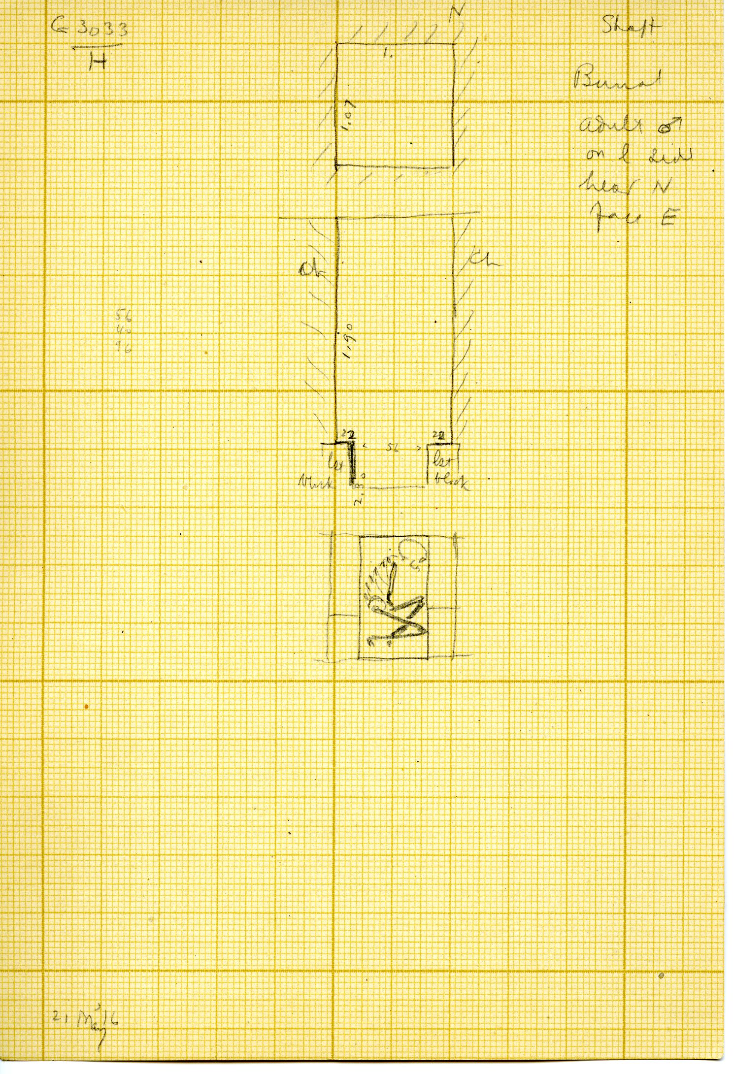 Maps and plans: G 3033, Shaft H