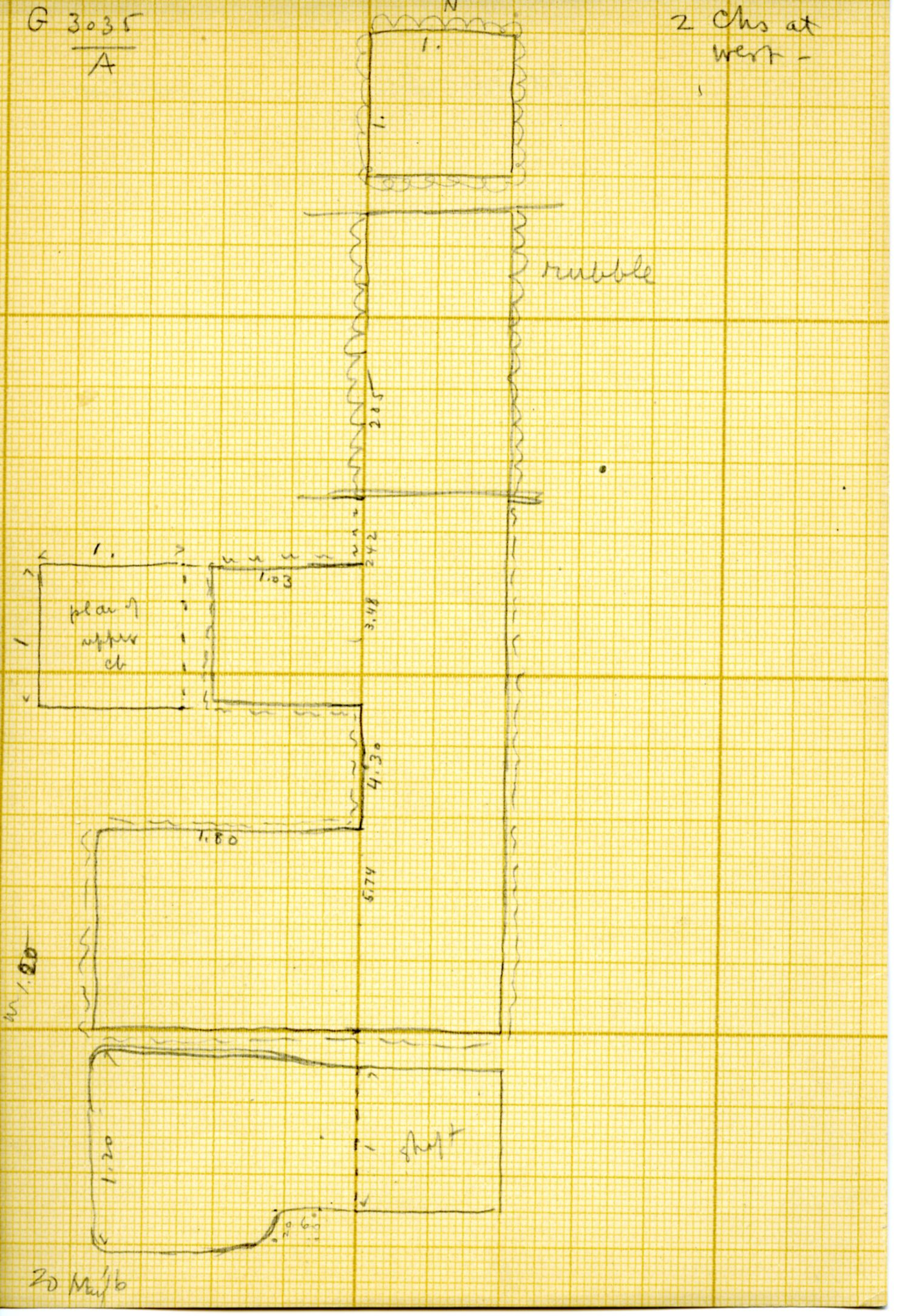 Maps and plans: G 3035, Shaft A