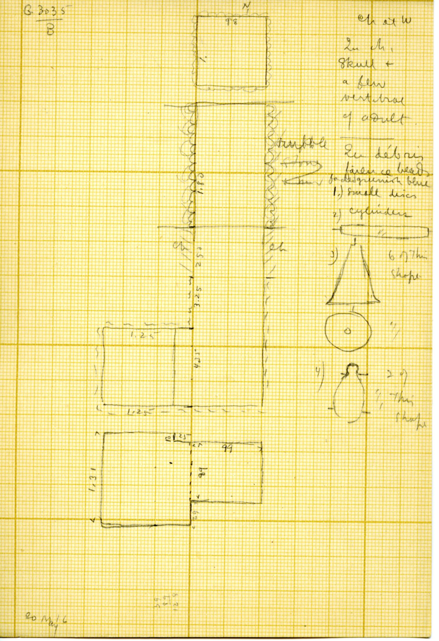 Maps and plans: G 3035, Shaft B