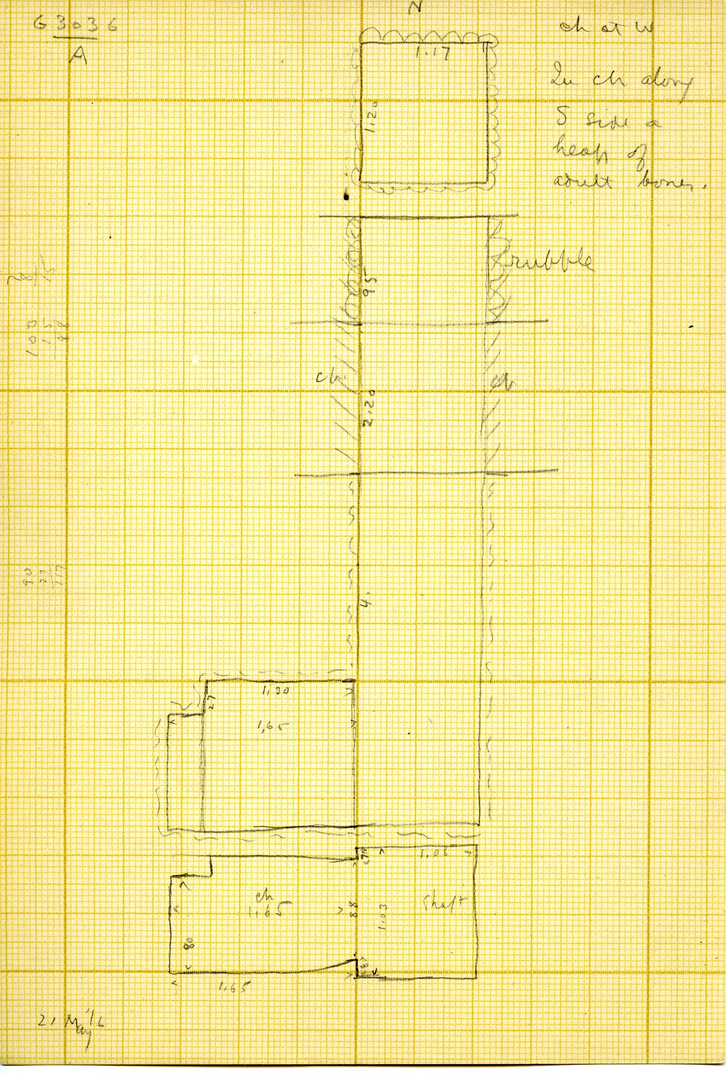 Maps and plans: G 3036, Shaft A