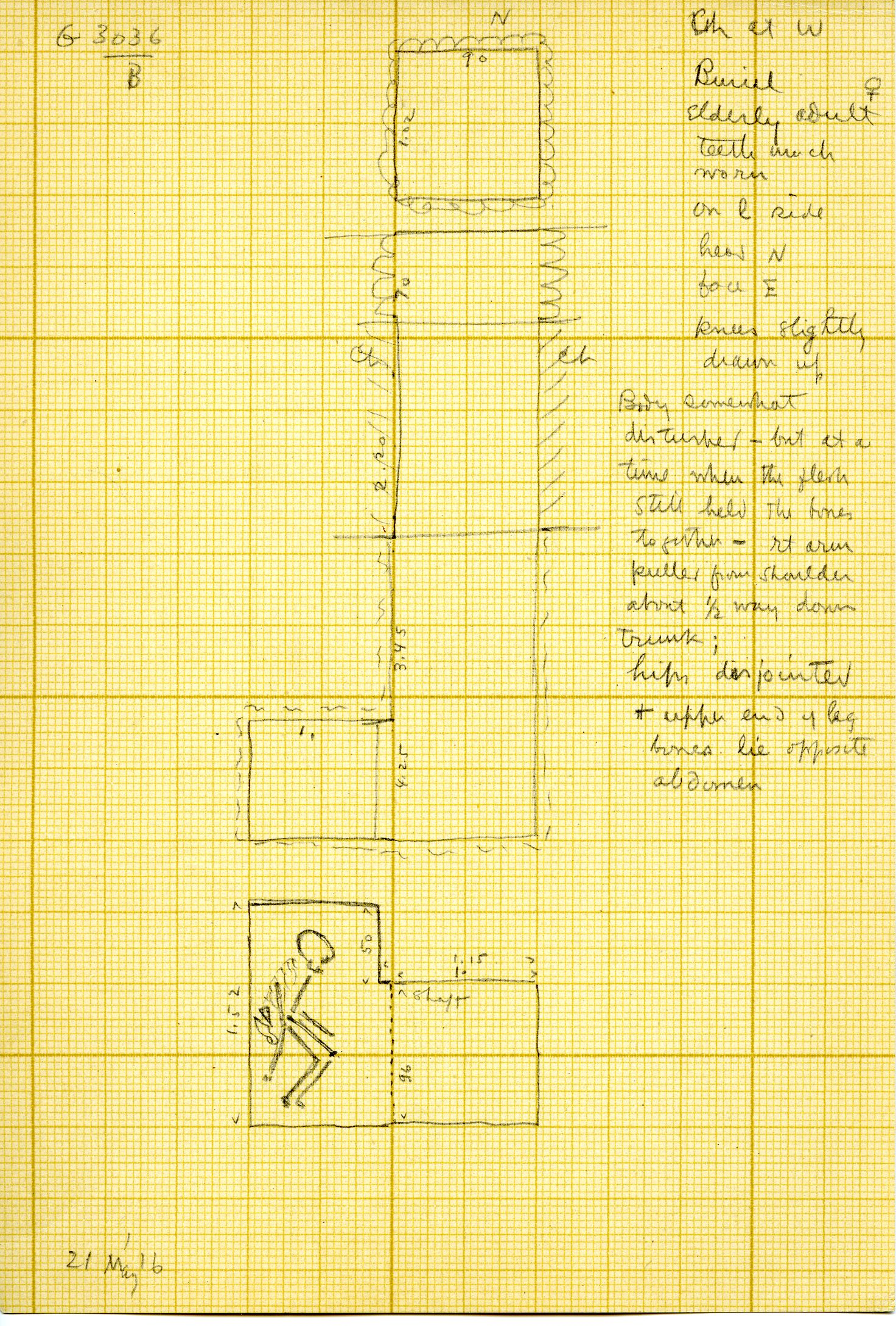 Maps and plans: G 3036, Shaft B
