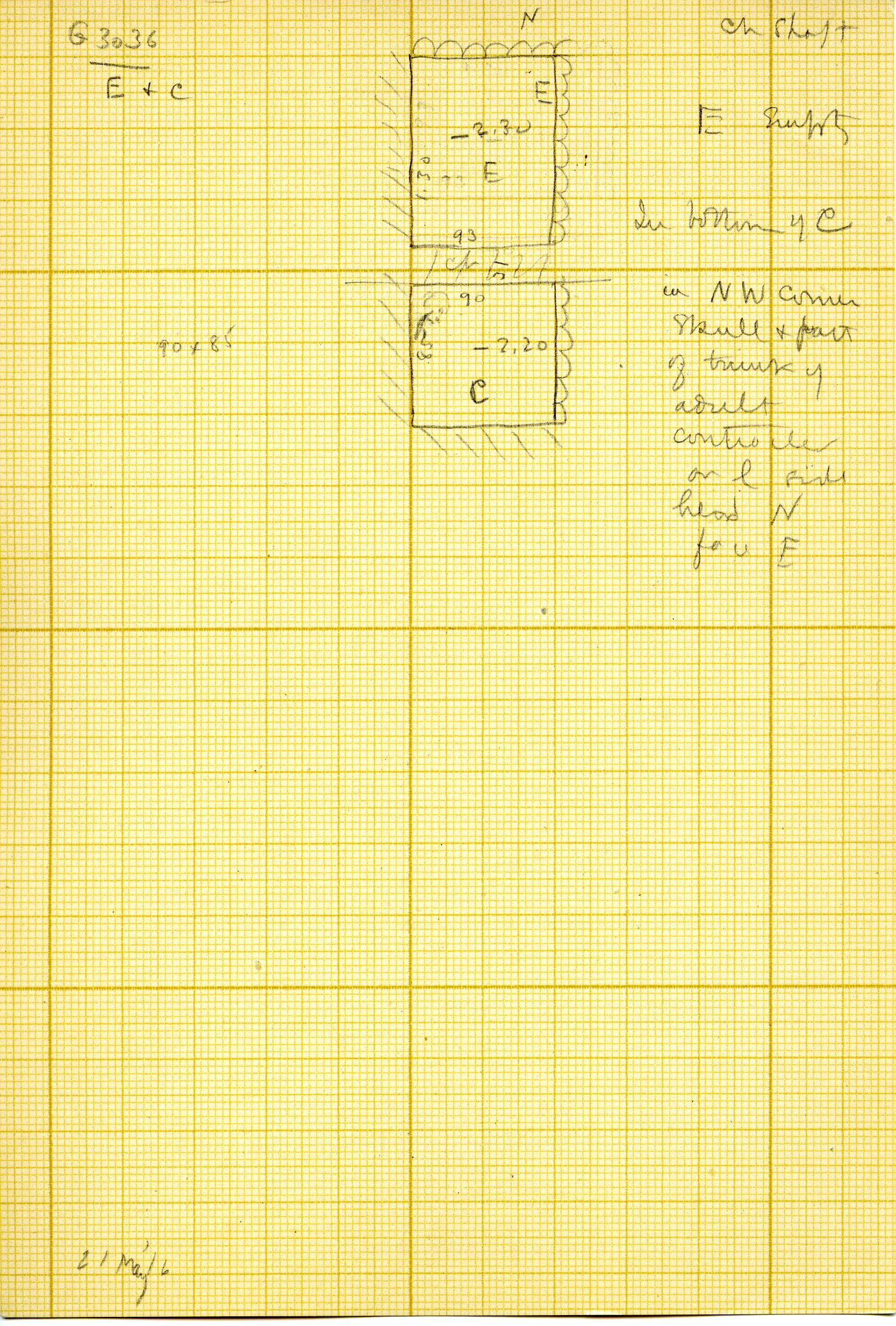 Maps and plans: G 3036, Shafts C, E