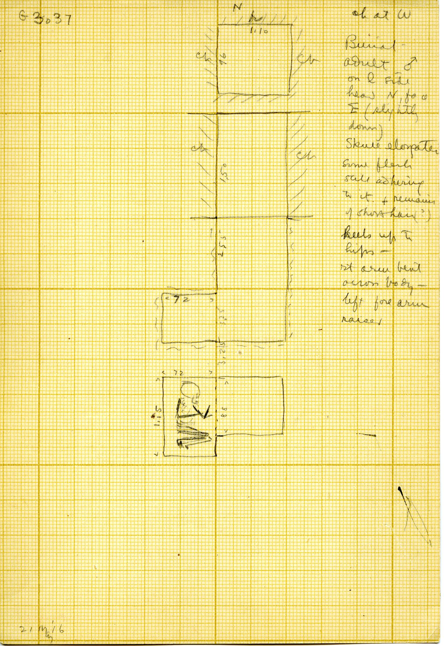 Maps and plans: G 3037, Shaft A