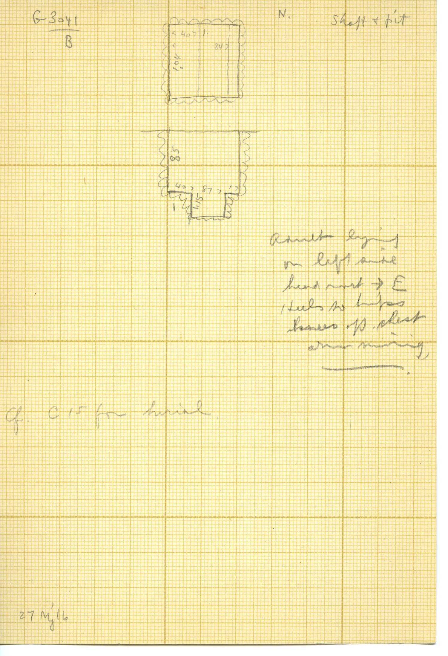 Maps and plans: G 3041, Shaft B