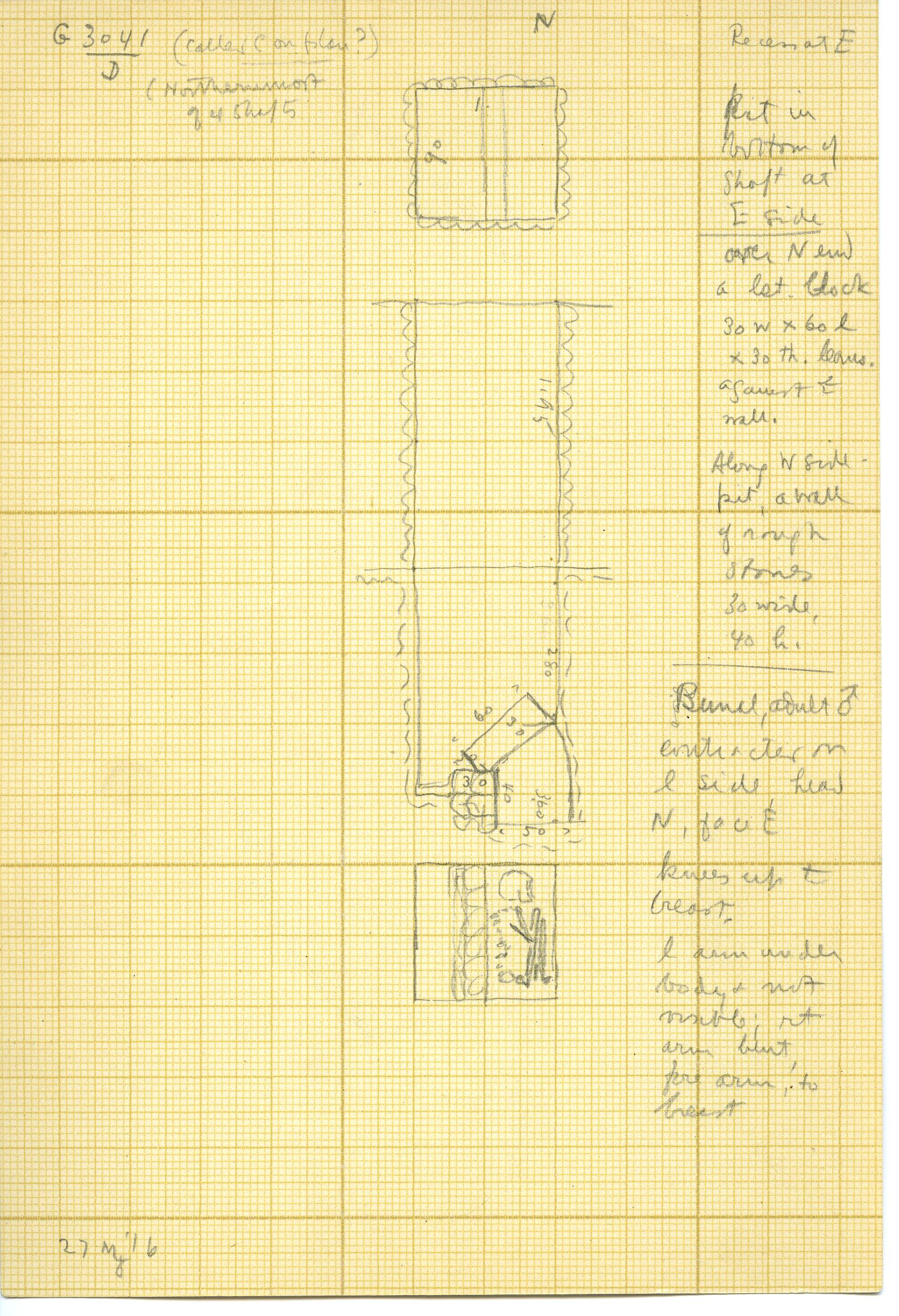 Maps and plans: G 3041, Shaft D