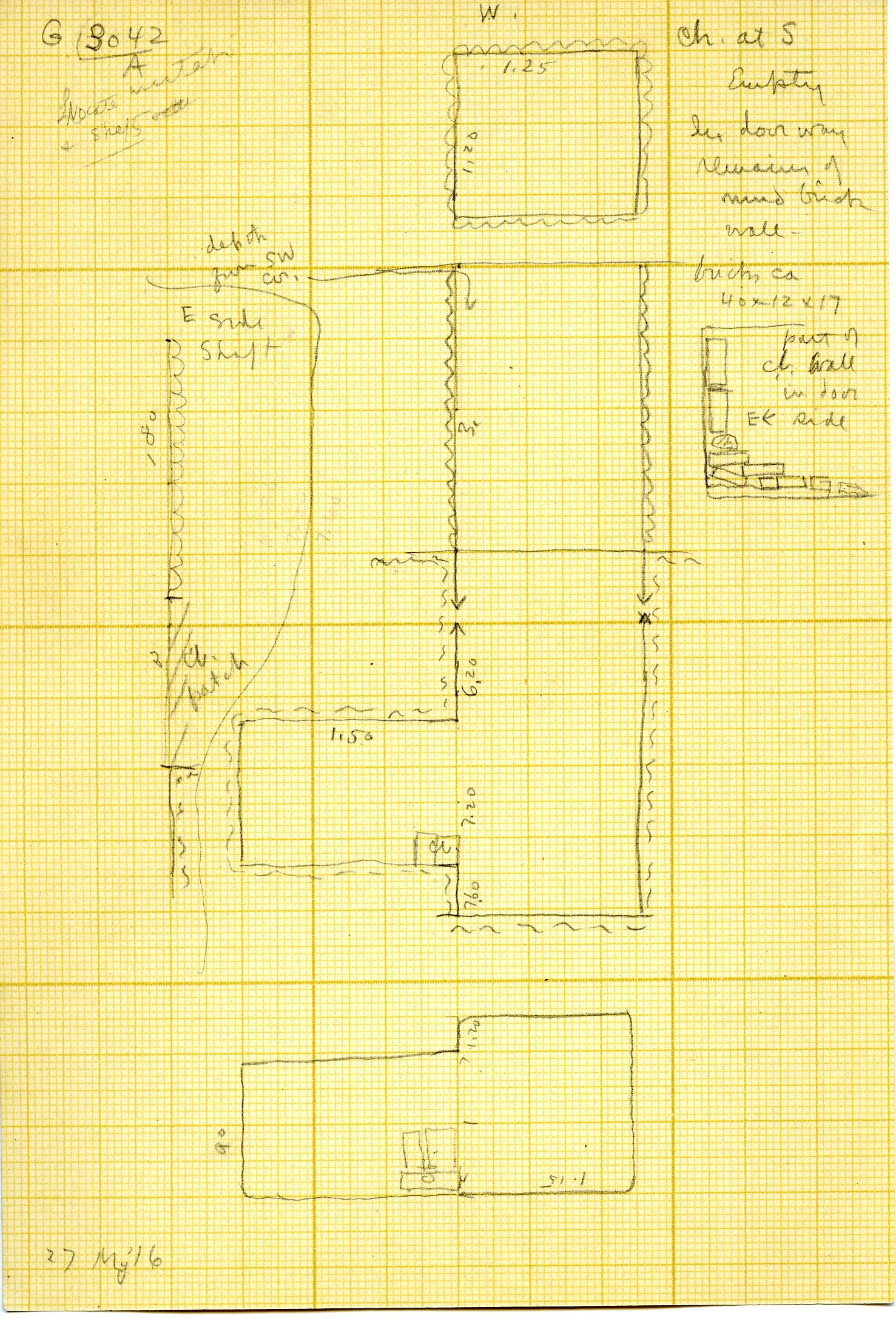 Maps and plans: G 3042, Shaft A