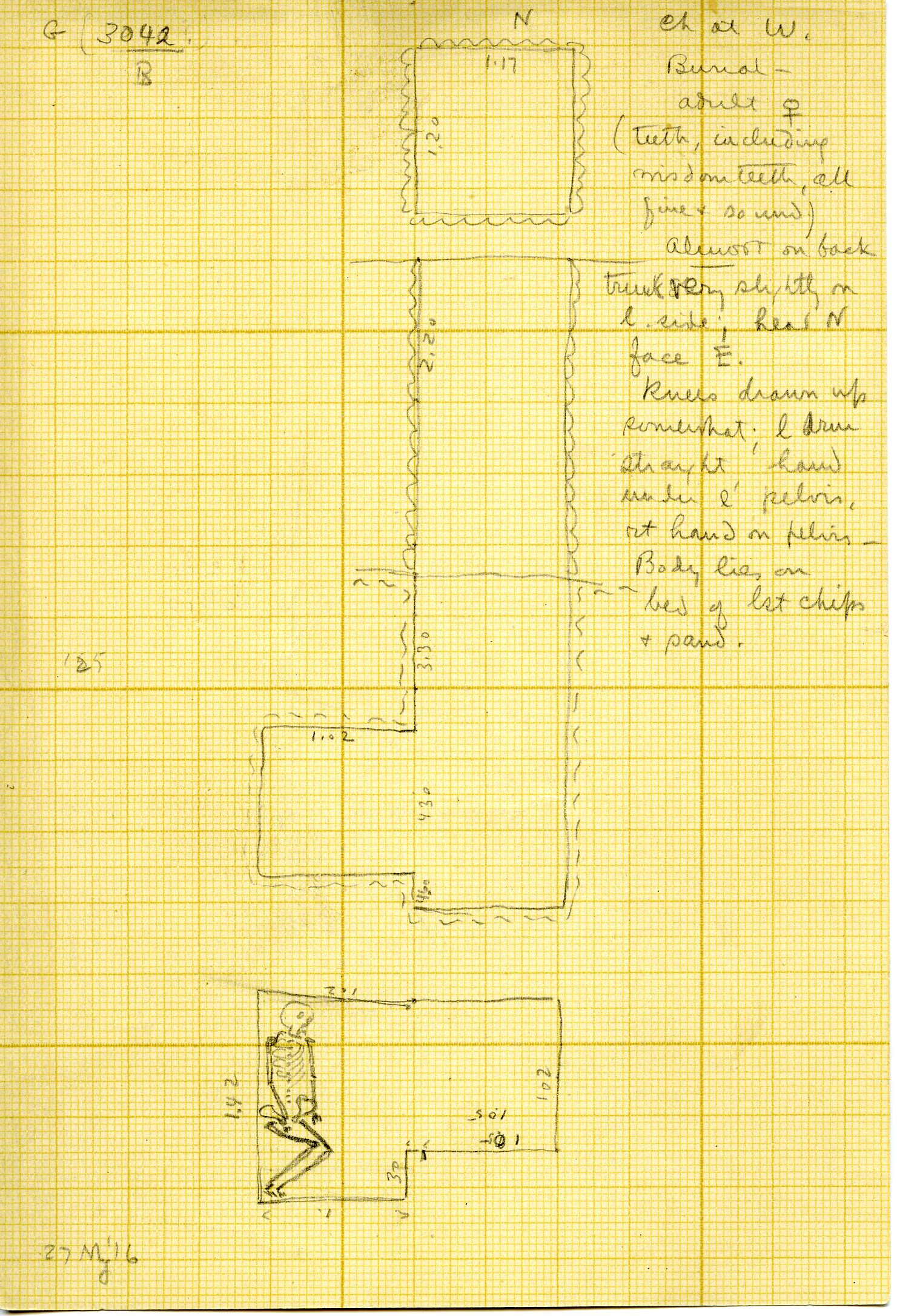 Maps and plans: G 3042, Shaft B