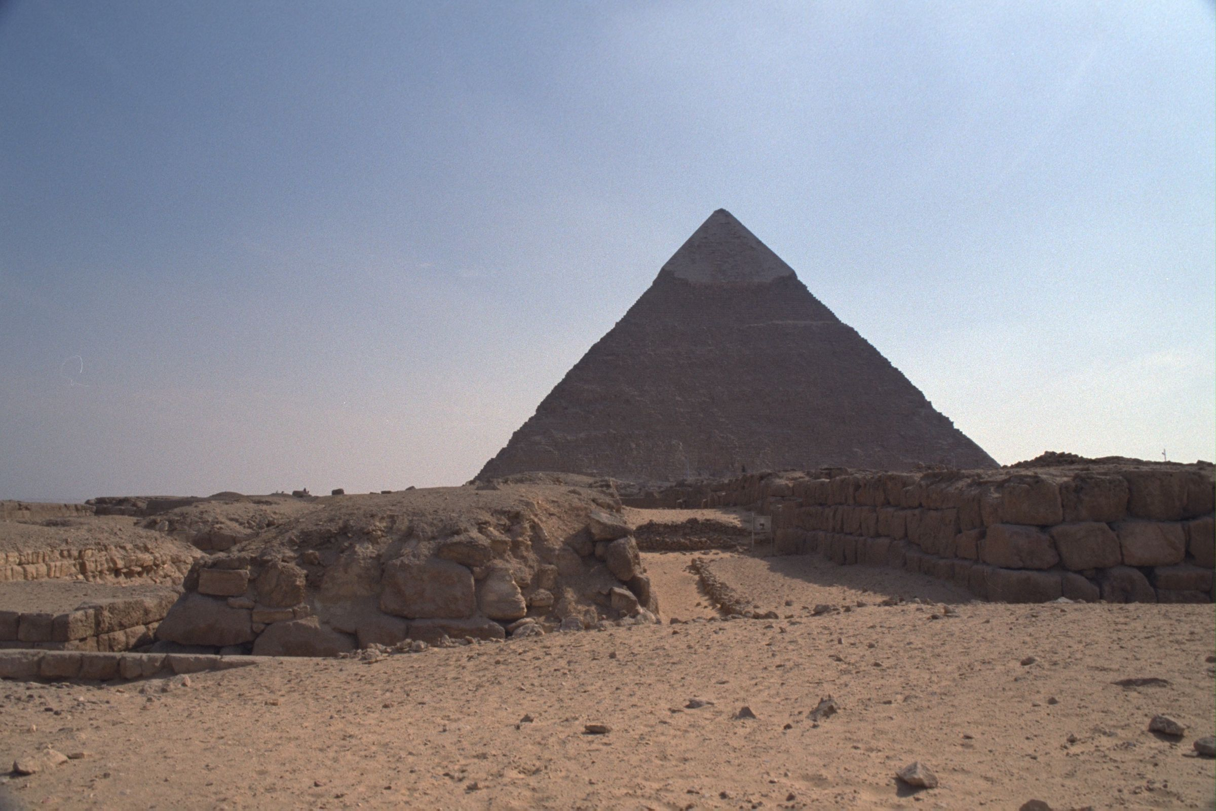 Western Cemetery: Site: Giza; View: Khafre pyramid, G 4760, G 4660