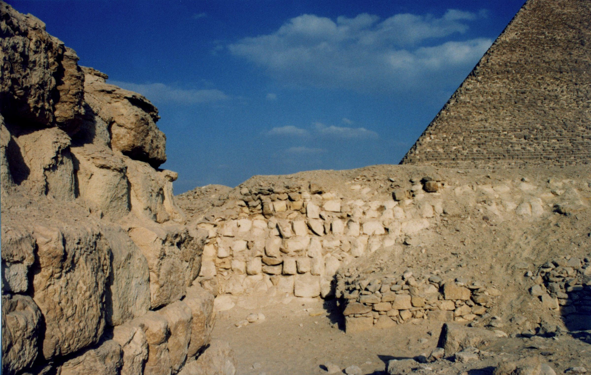 Western Cemetery: Site: Giza; View: G 2160, Kaninisut III (G 2156a), G 2155, G 4980