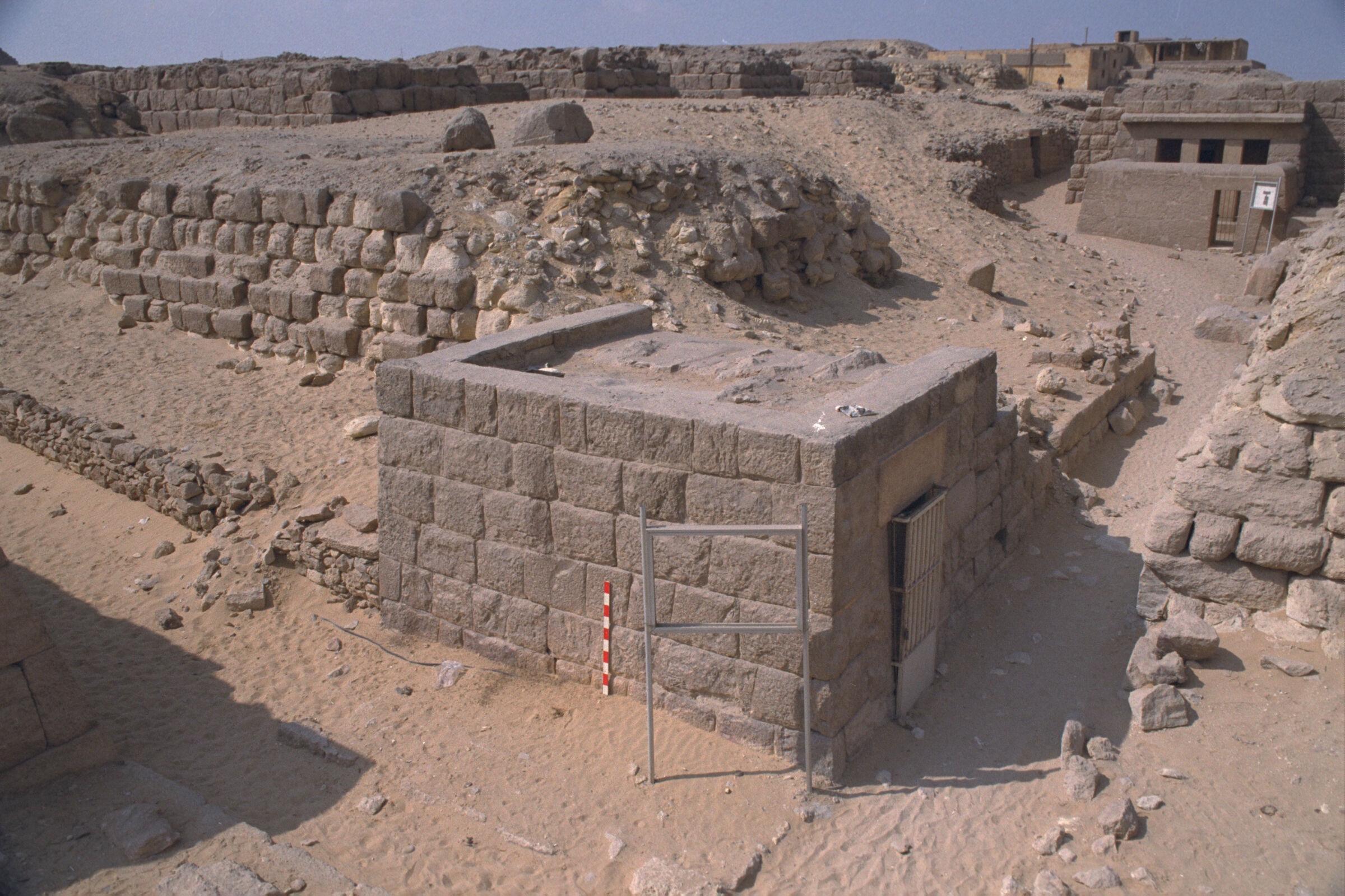 Western Cemetery: Site: Giza; View: G 2136, G 2135, Djednefret (G 2136a)