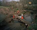 River Clean-up, Swannanoa River, Asheville, North Carolina