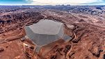 Mexican Hat Disposal Cell, cylindrical projection, Halchita, UT, Navajo Nation