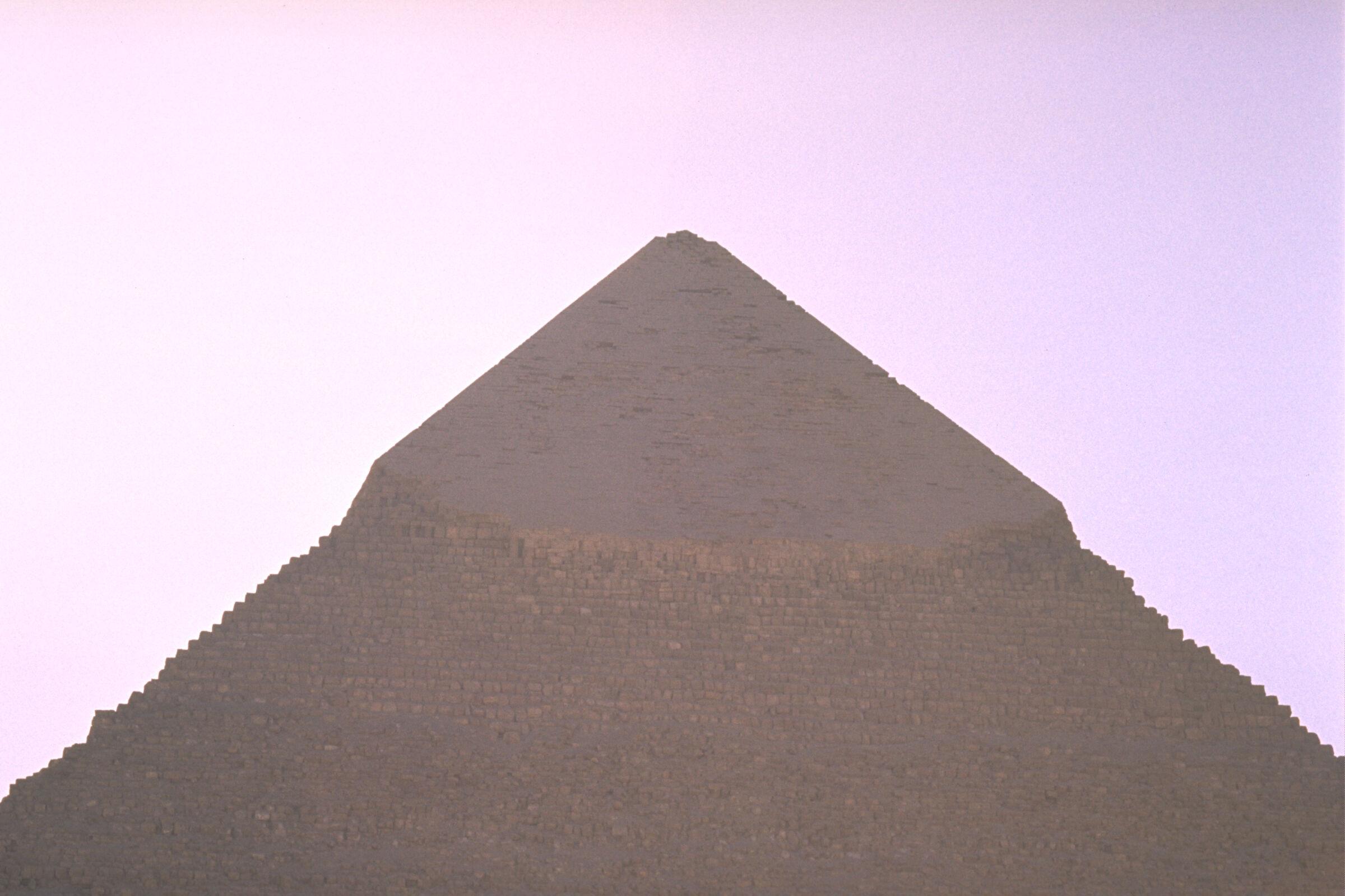 Khufu Pyramid Complex: Site: Giza; View: Khafre pyramid