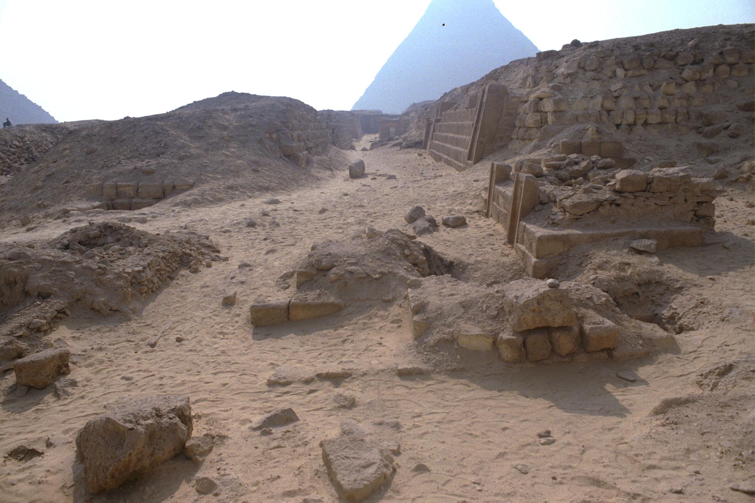 Western Cemetery: Site: Giza; View: G 2150, G 2151, G 2153, G 2152, G 2136', G 2154, G 2157, G 2170