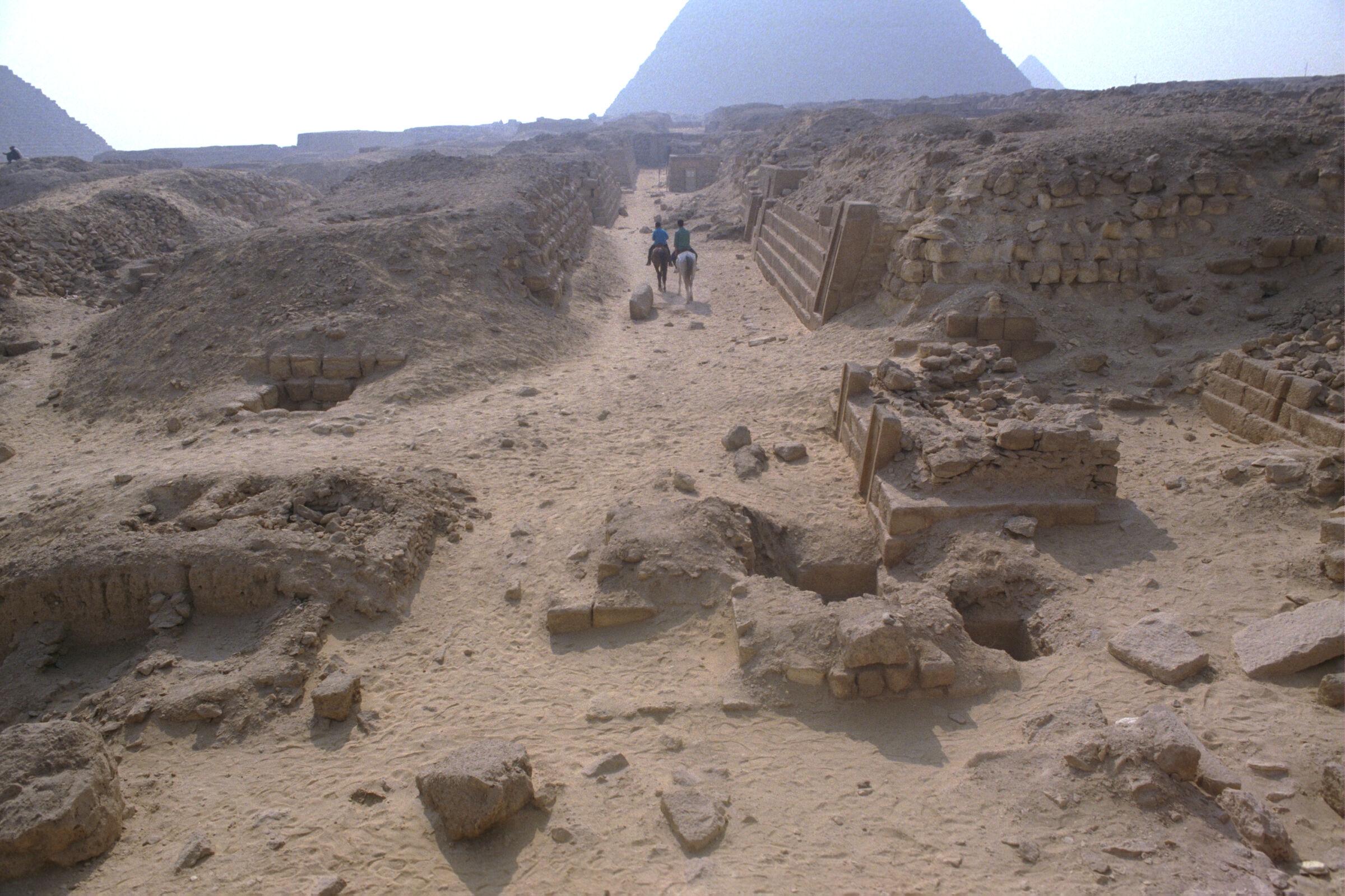 Western Cemetery: Site: Giza; View: G 2150, G 2151, G 2154, G 2154a, G 2153, G 2152, G 2136', G 2157, G 2170