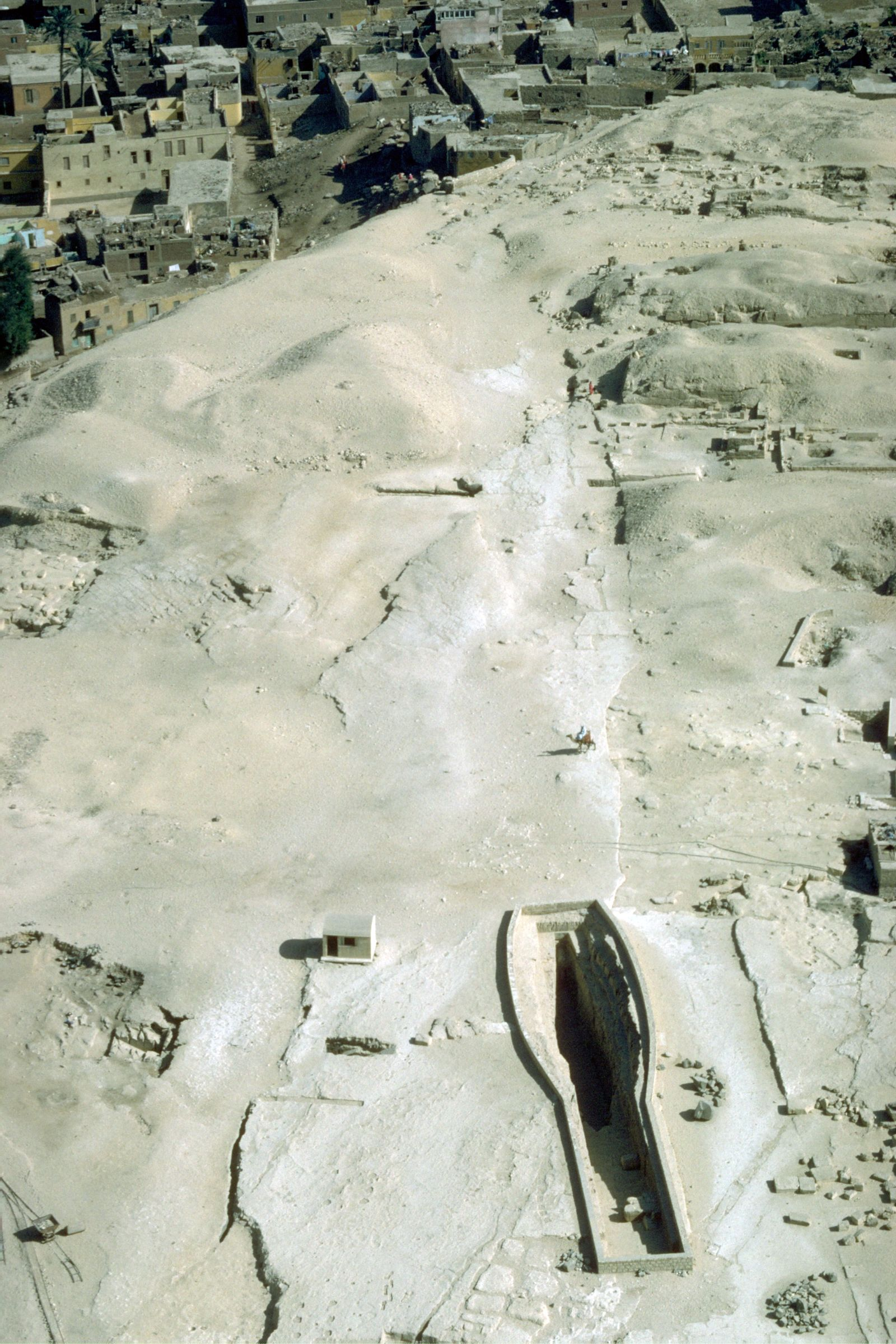 Khufu Pyramid Complex: Site: Giza; View: Khufu causeway