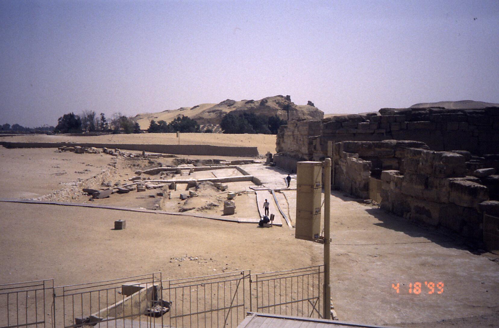 Khafre Pyramid Complex: Site: Giza; View: Khafre valley temple, Sphinx temple