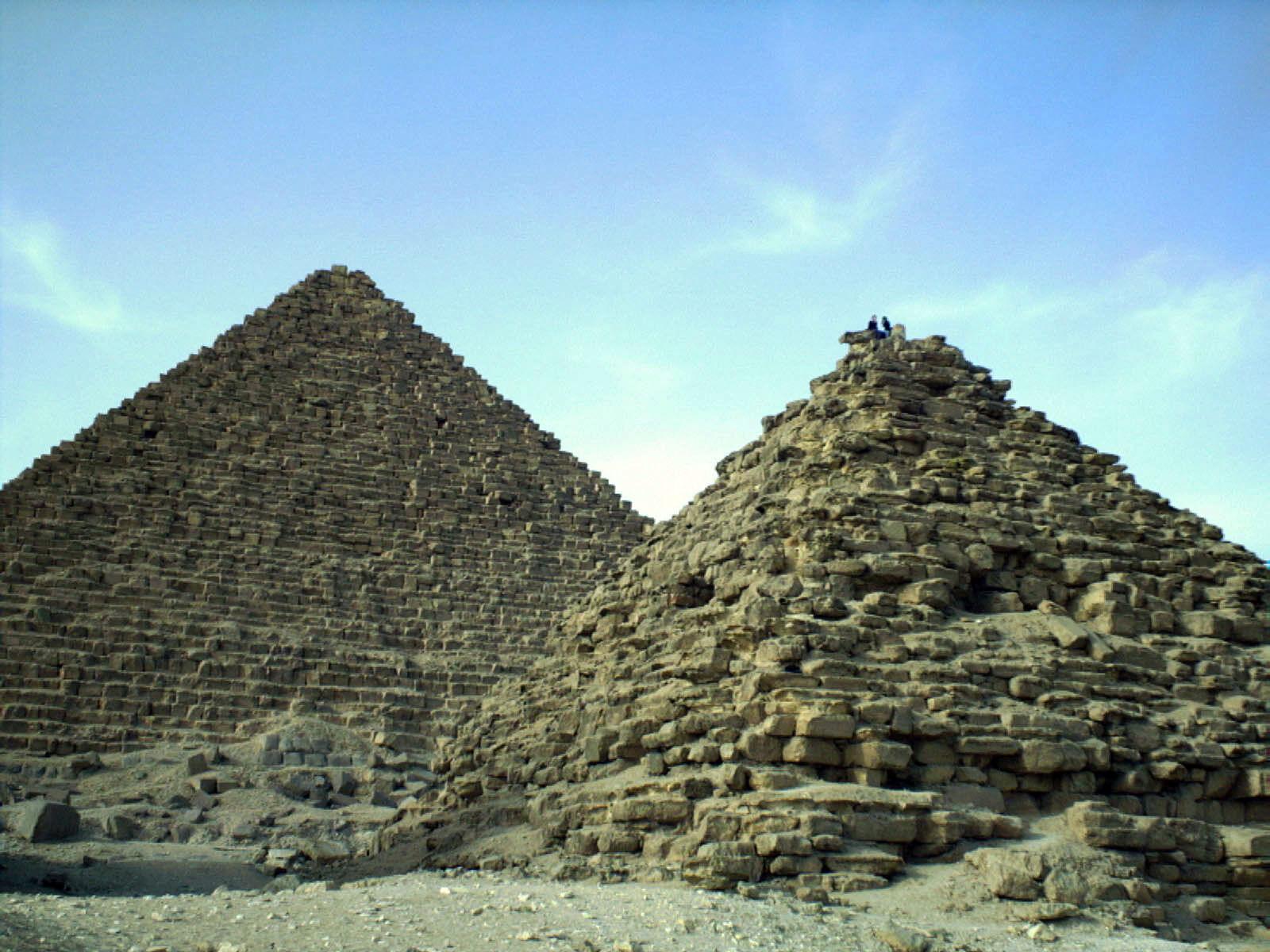 Menkaure Pyramid Complex: Site: Giza; View: Menkaure pyramid, G III-a