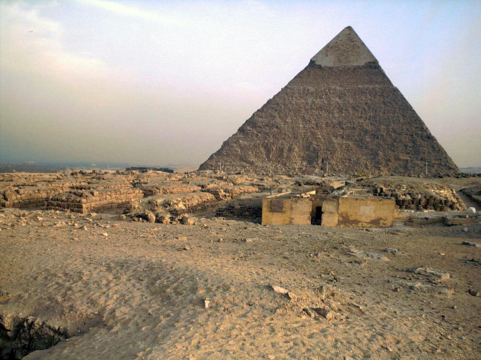 Western Cemetery: Site: Giza; View: Khafre pyramid