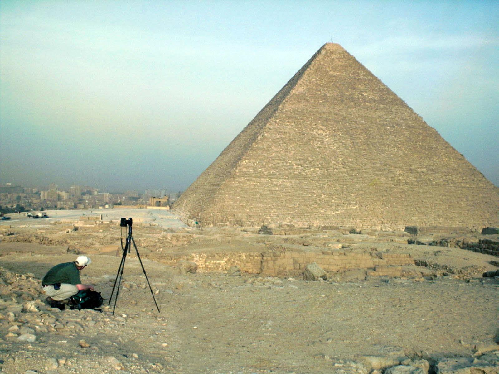 Western Cemetery: Site: Giza; View: G 2100-I, Khufu pyramid