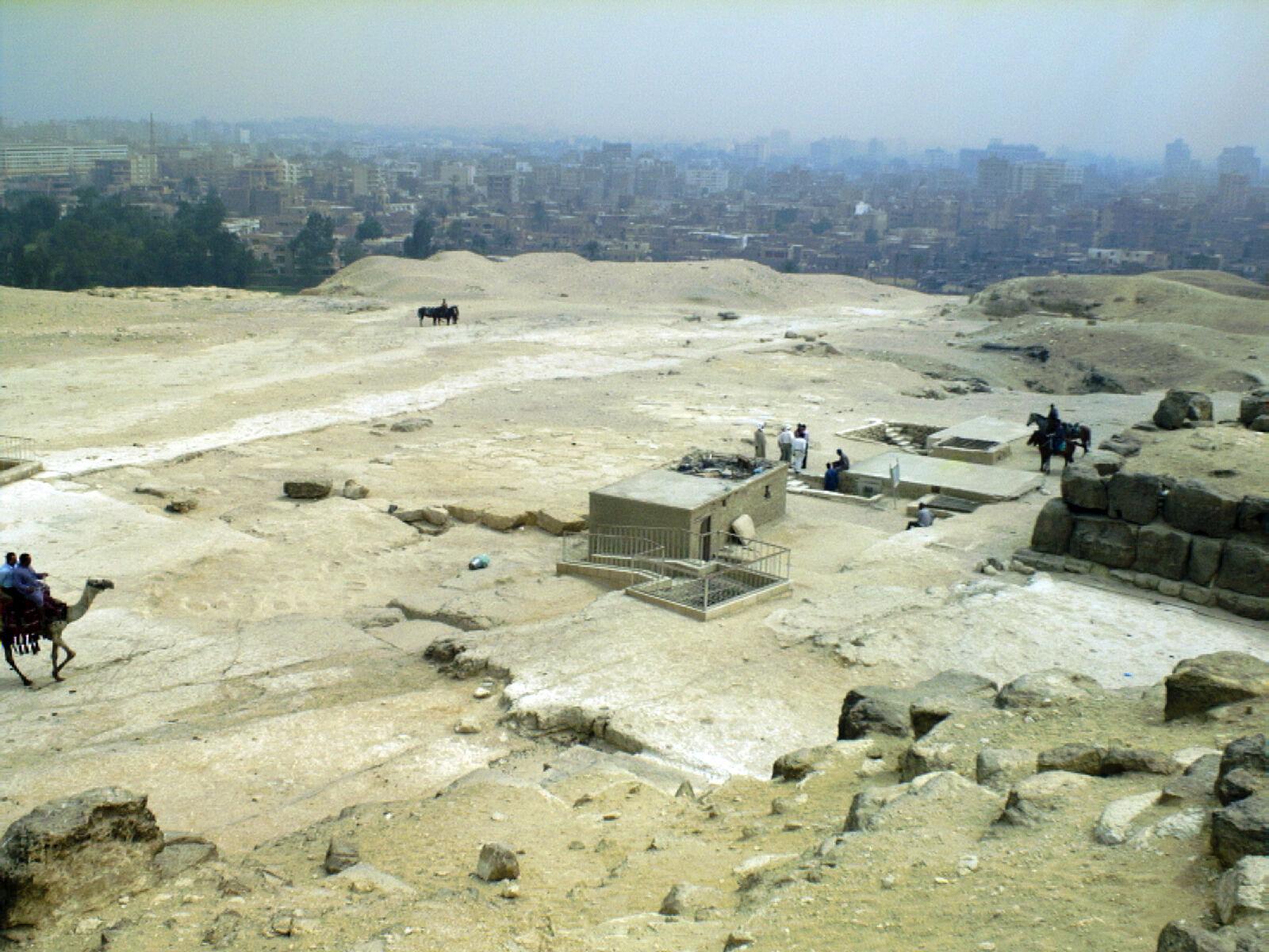 Eastern Cemetery: Site: Giza; View: Khufu pyramid, G 7000 X