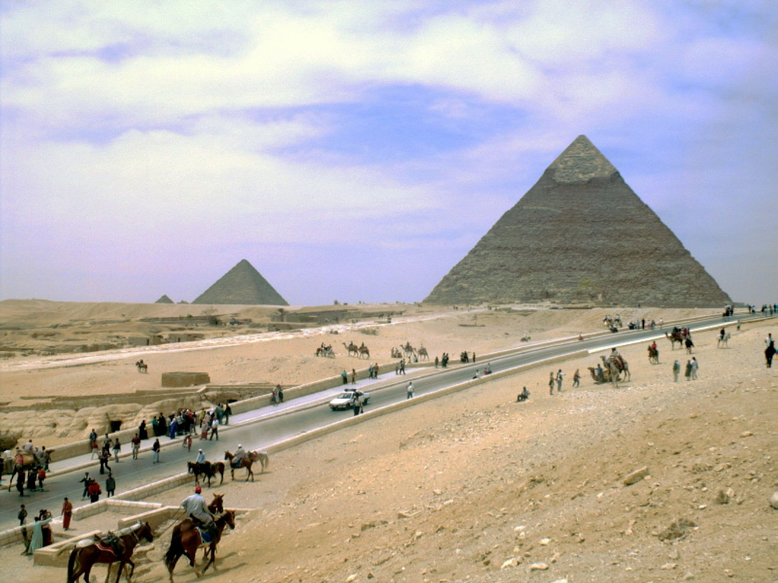General view/misc.: Site: Giza; View: Khafre pyramid