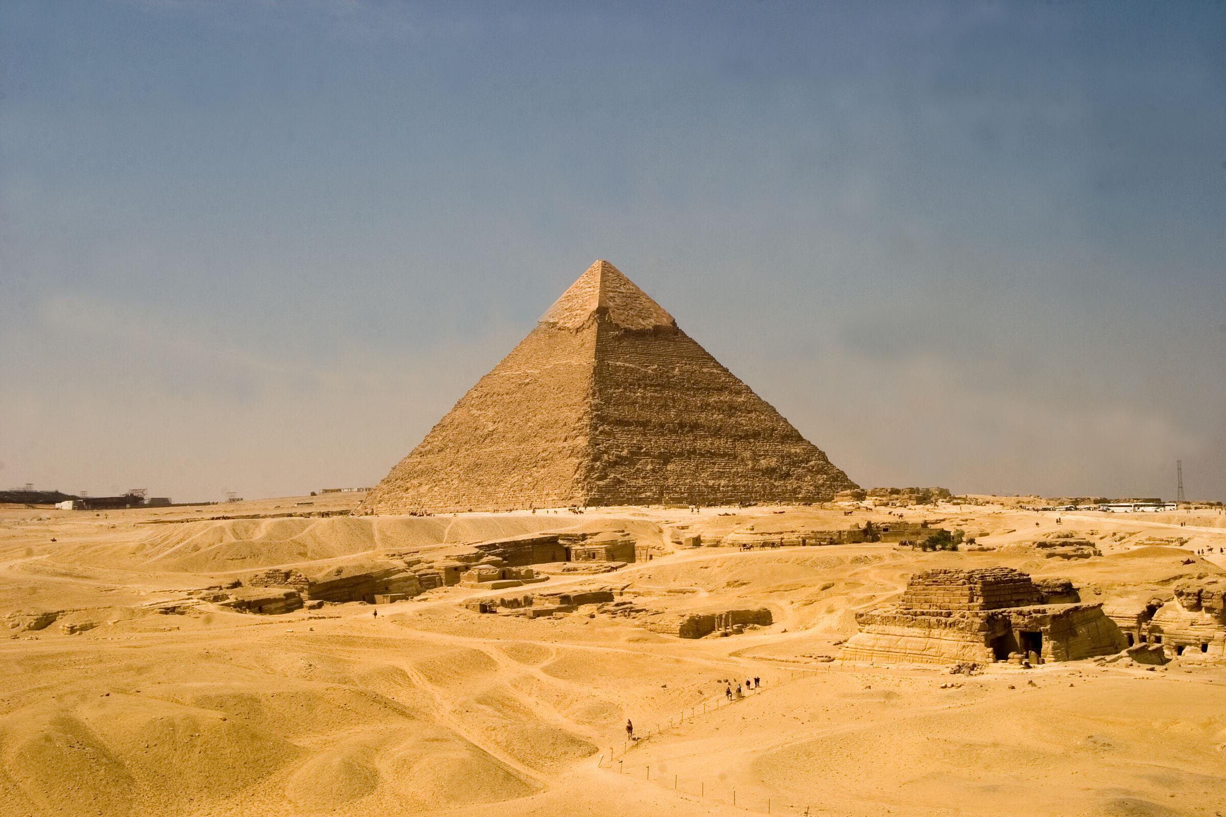General view: Site: Giza; View: Khafre pyramid, G 8400