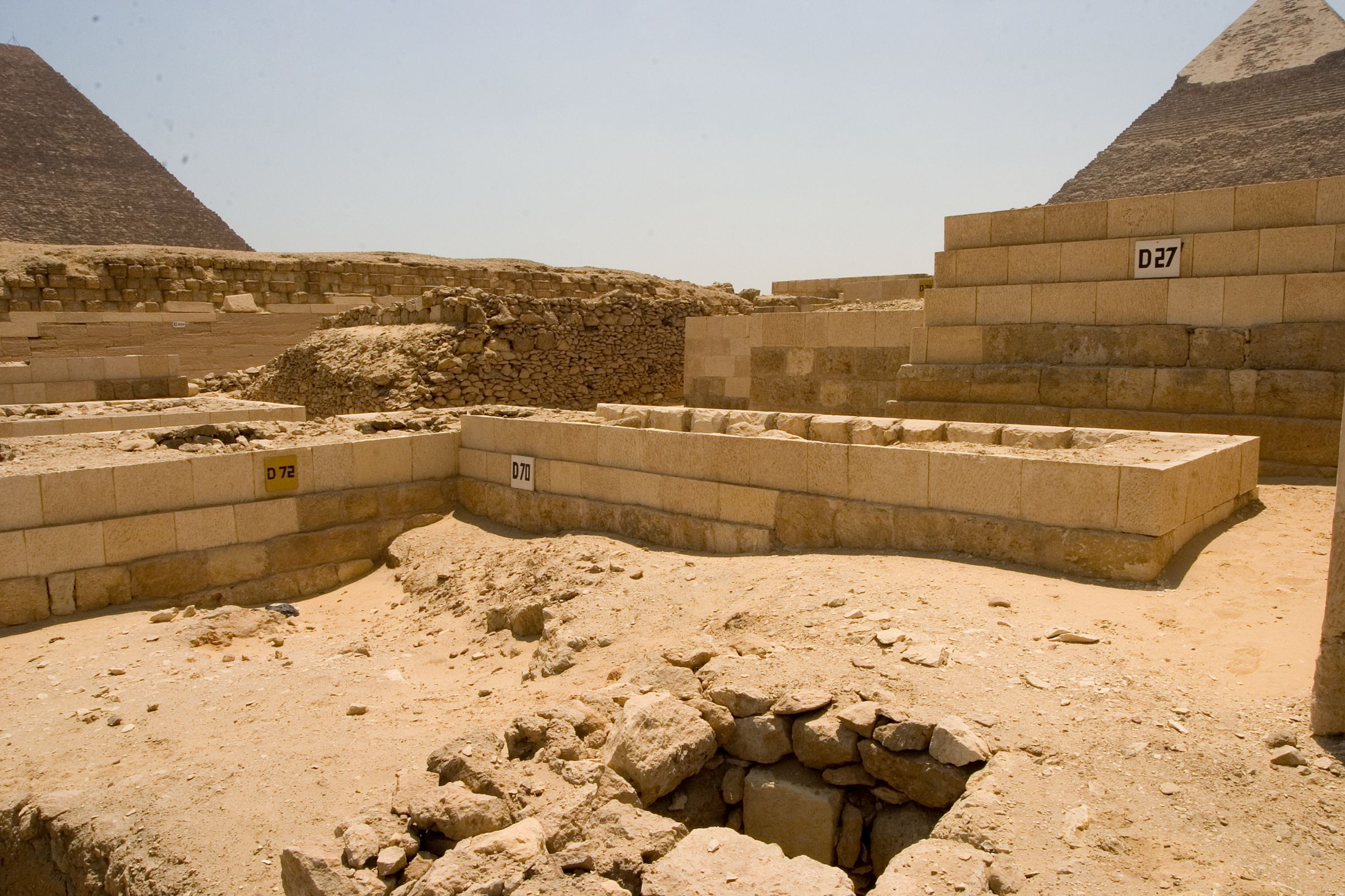 Western Cemetery: Site: Giza; View: D 72, D 70, D 27